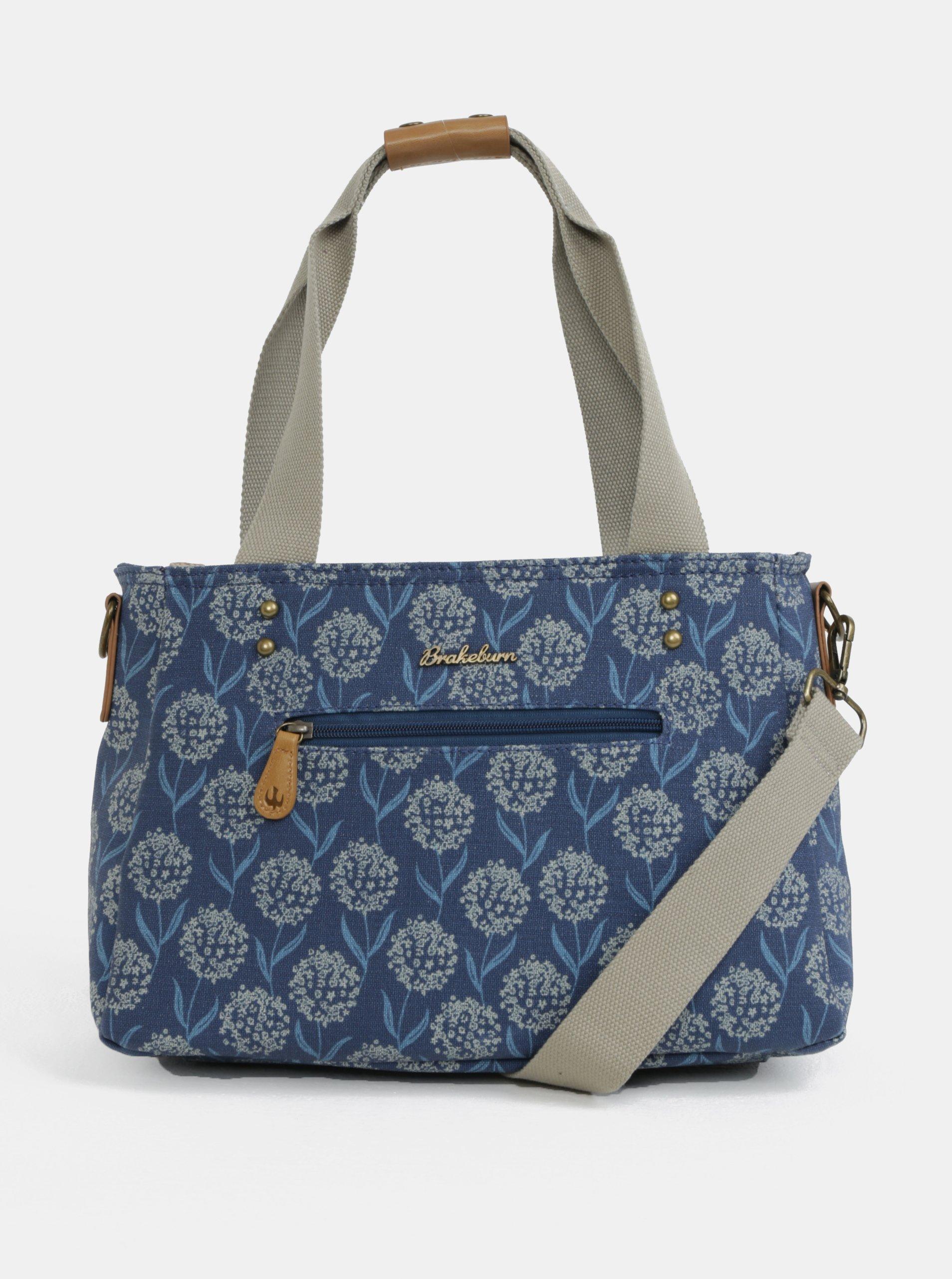 Tmavě modrá květovaná kabelka přes rameno Brakeburn
