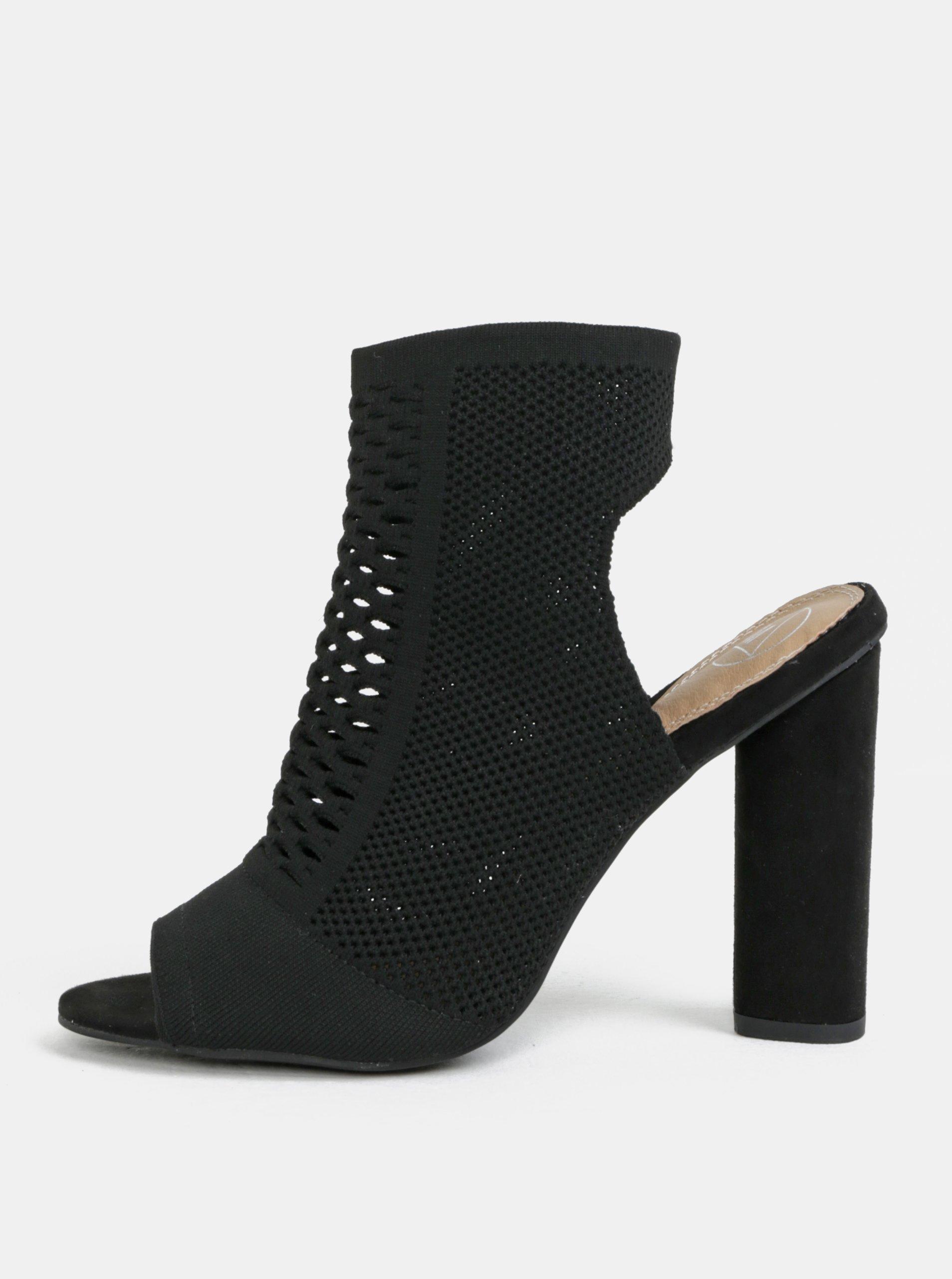 e225ba5a452d Čierne sandálky na širokom podpätku MISSGUIDED