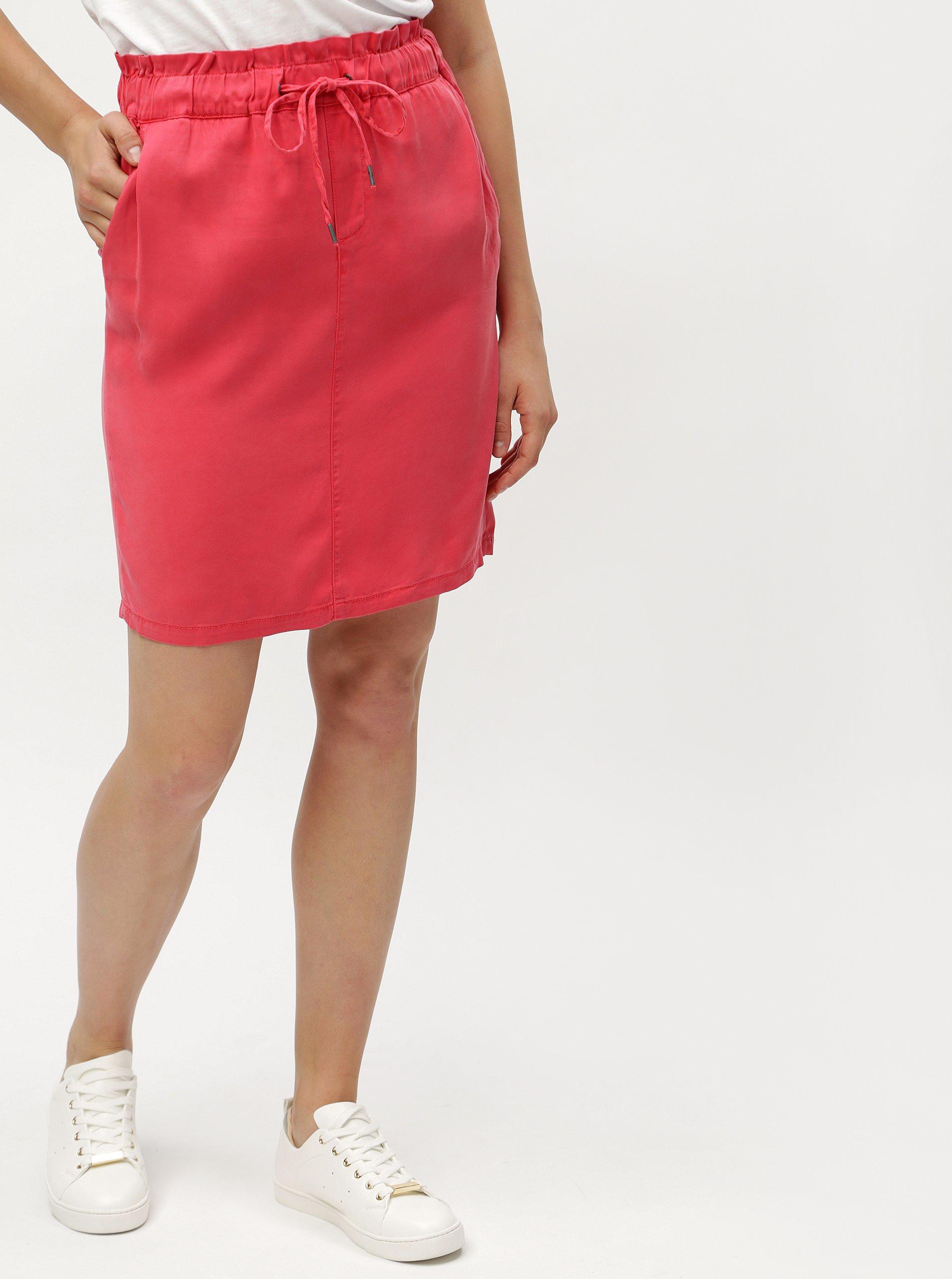 94c2df9ed58e Červená sukňa so zaväzovaním s.Oliver