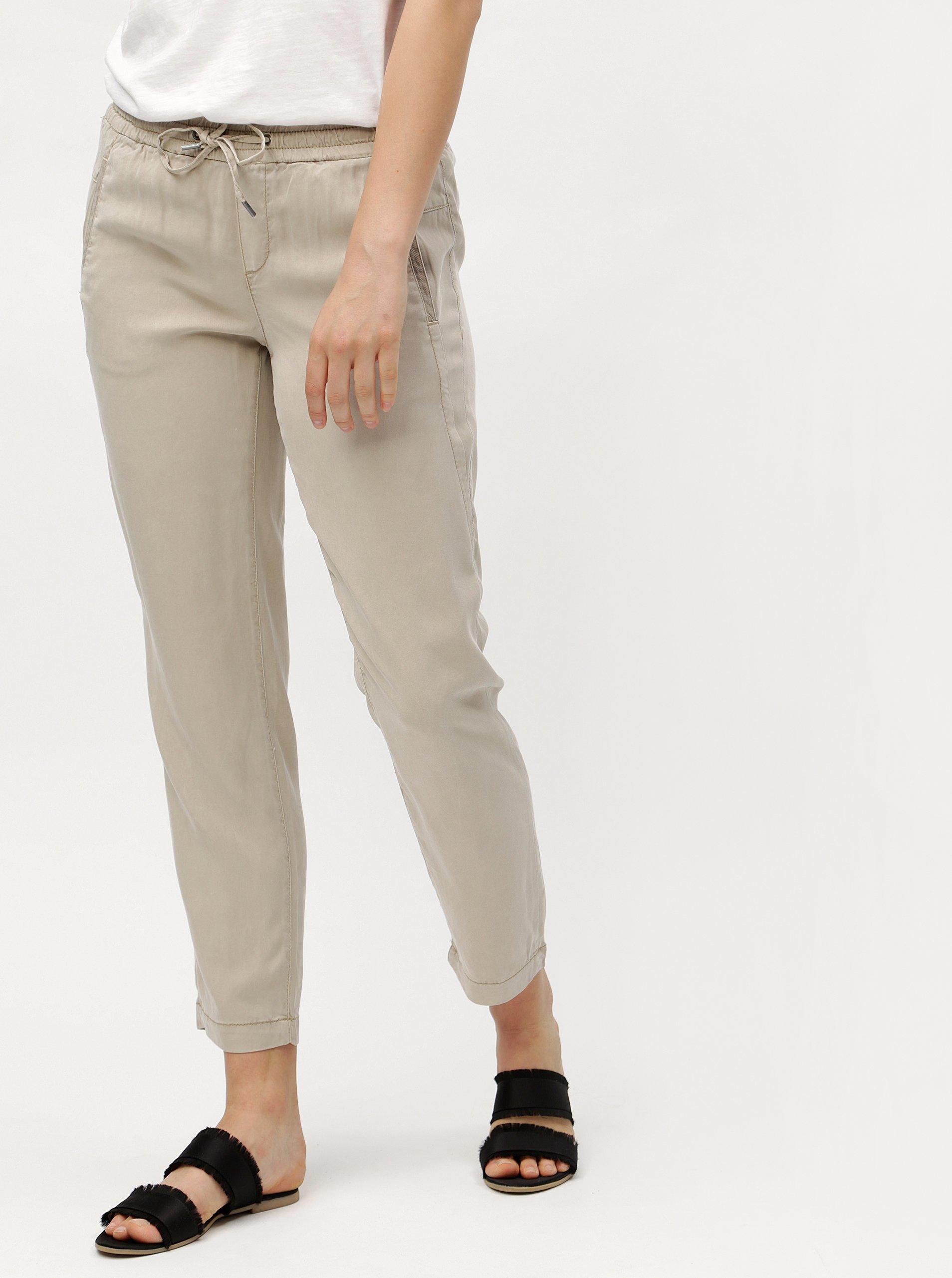 dff4d62a7ea Béžové dámské volné kalhoty s.Oliver