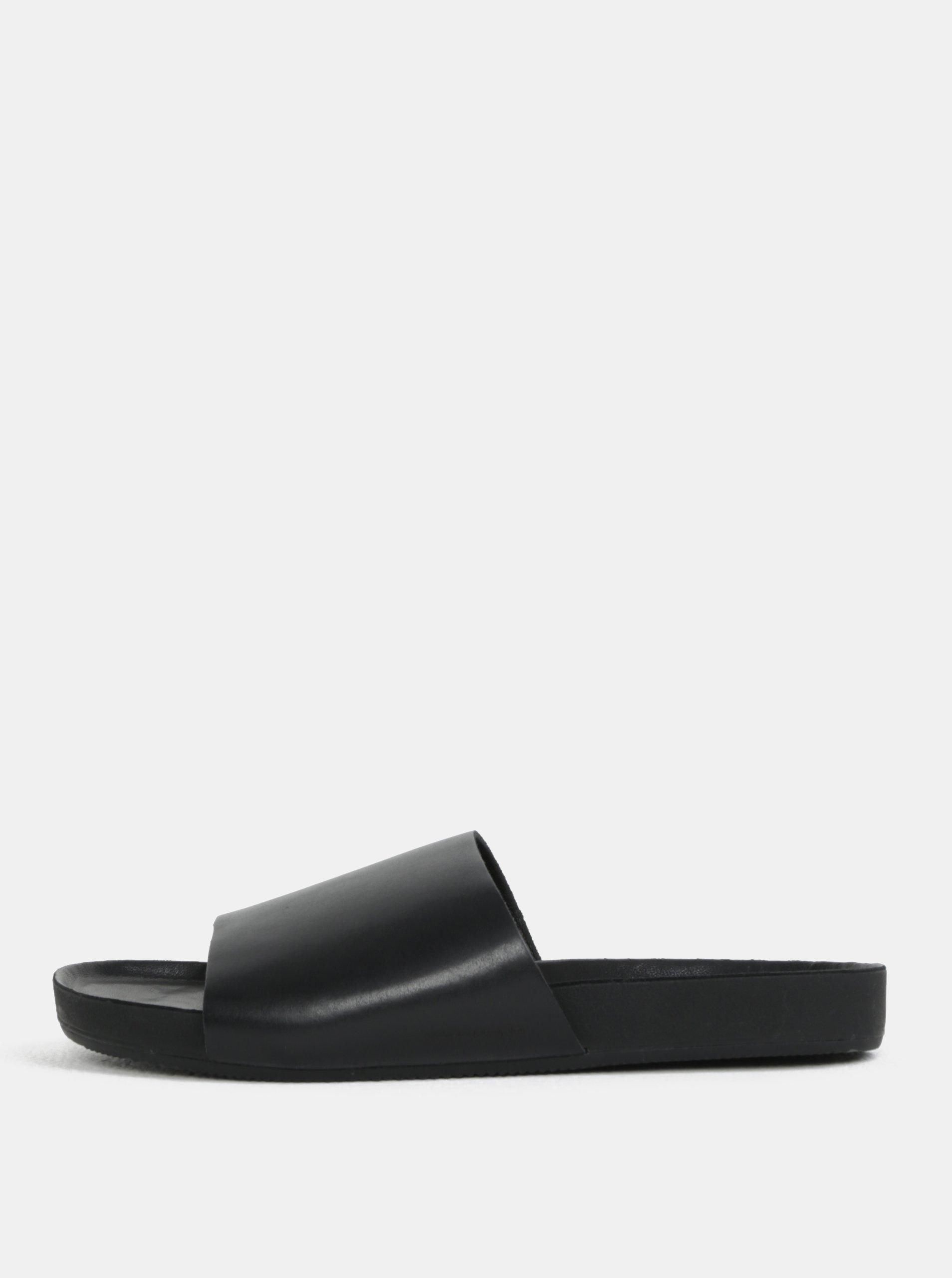 Černé pánské kožené pantofle Vagabond Funk