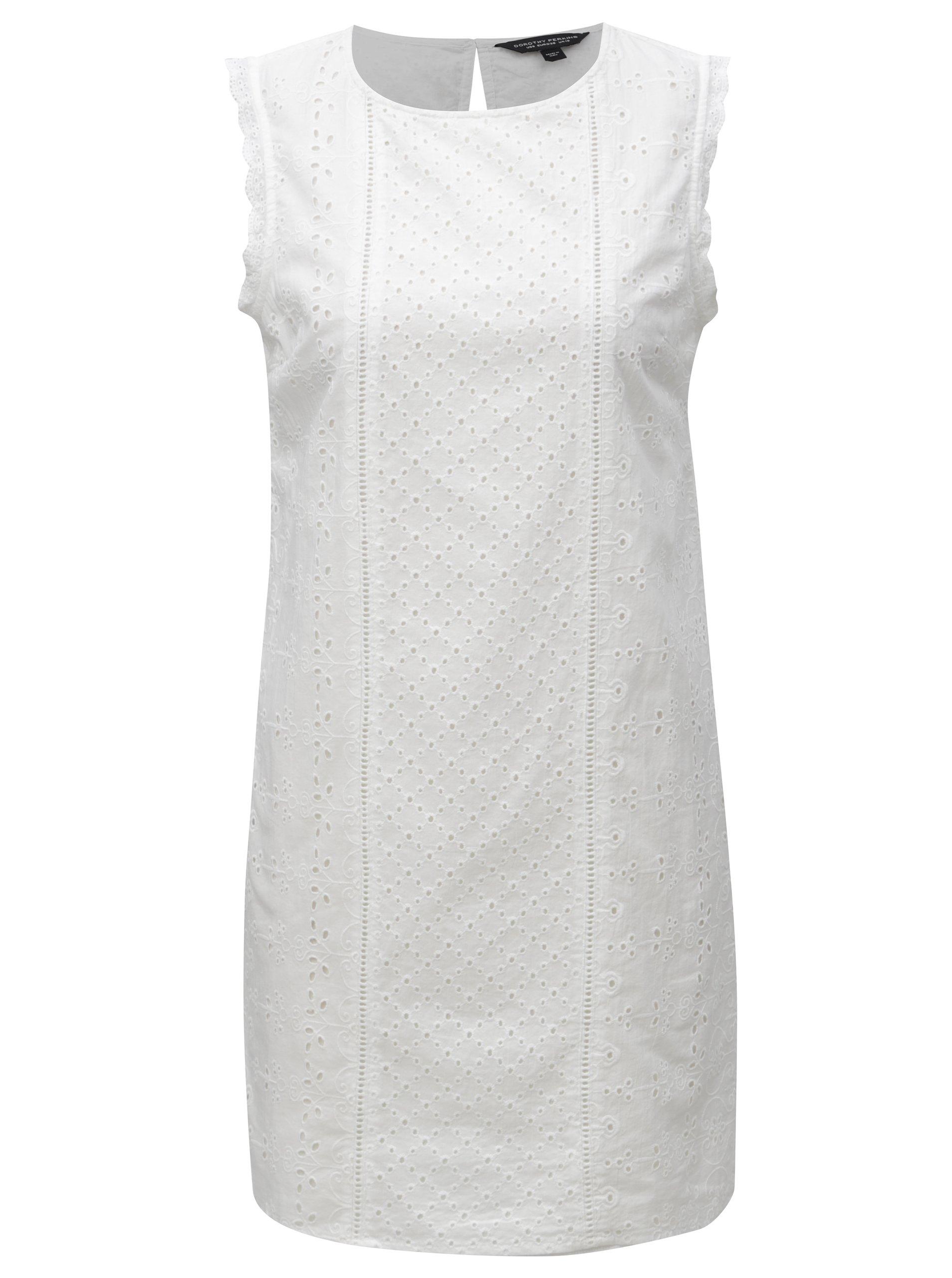 d76927364d04 Bílé krajkové šaty Dorothy Perkins