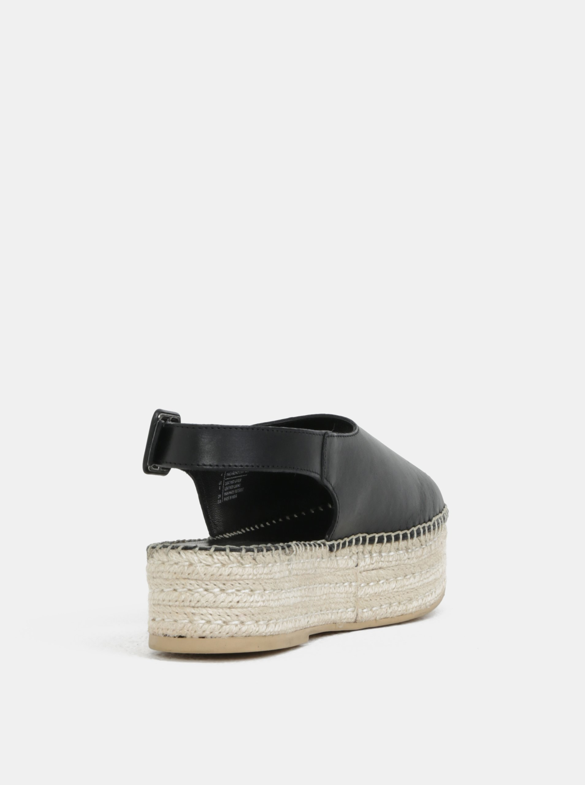 Černé dámské kožené sandály na platformě Vagabond Celeste