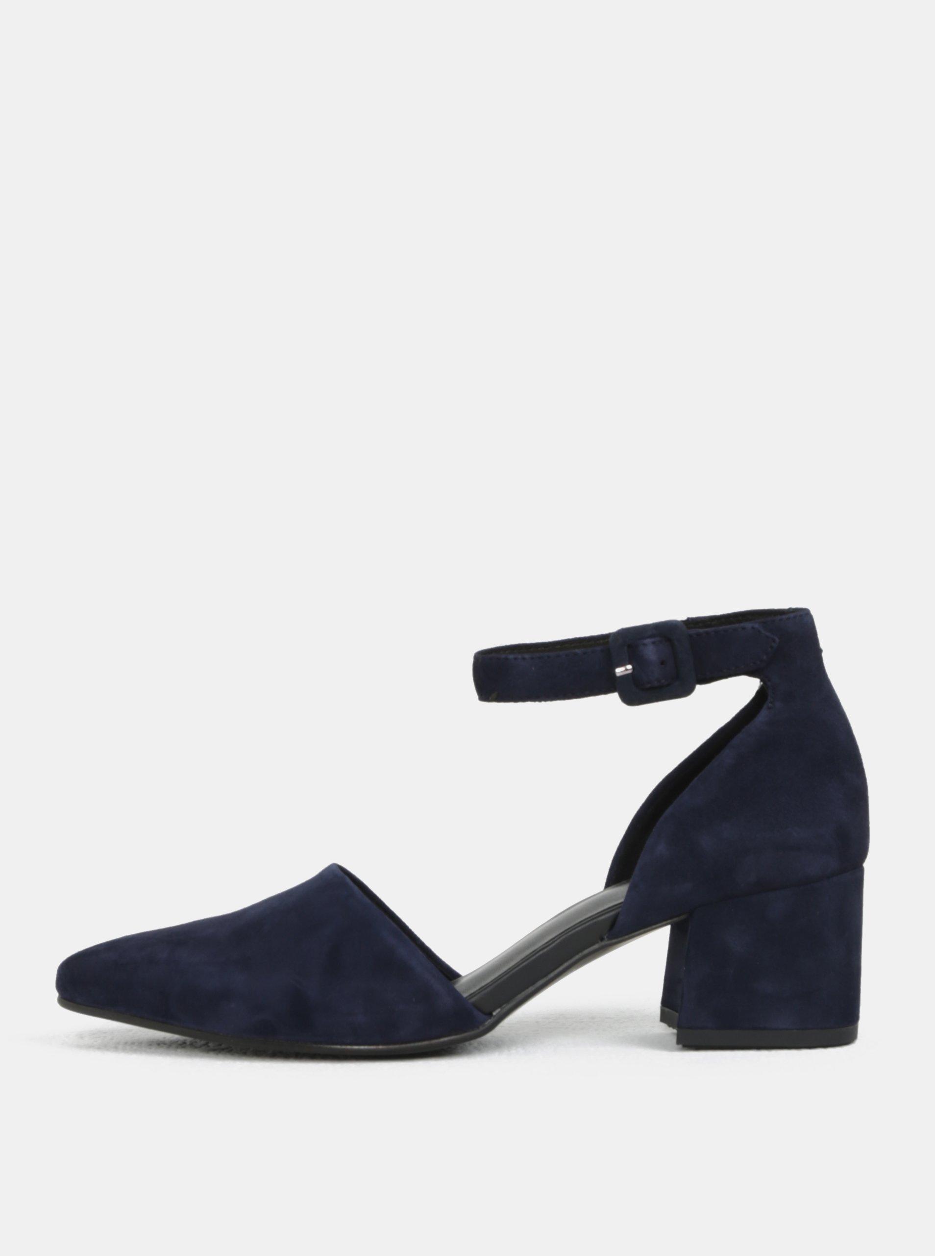 92665521d588 Tmavomodré dámske semišové sandále Vagabond Mya