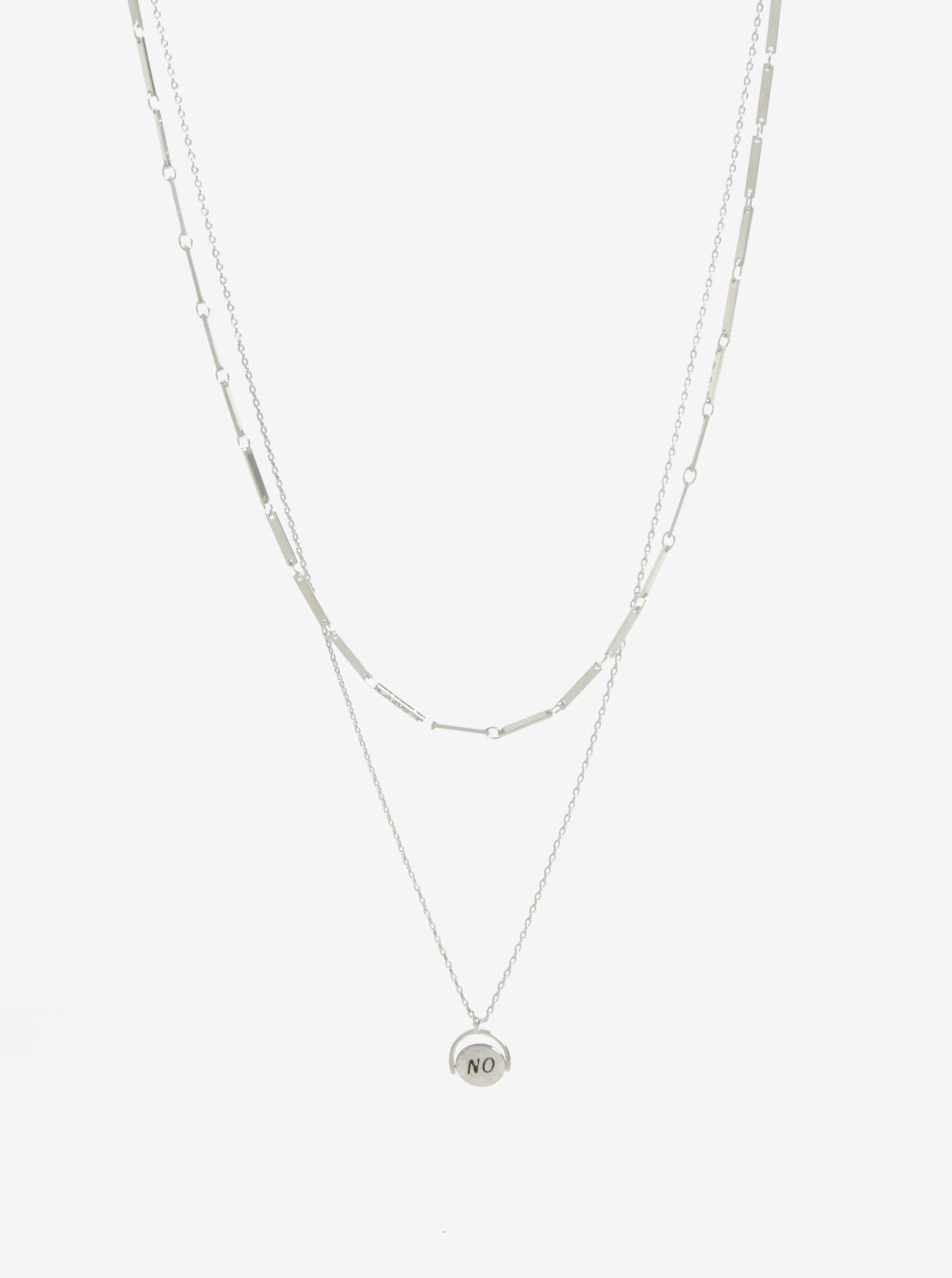 Súprava dvoch náhrdelníkov v striebornej farbe Pieces Johanna 42447efde30