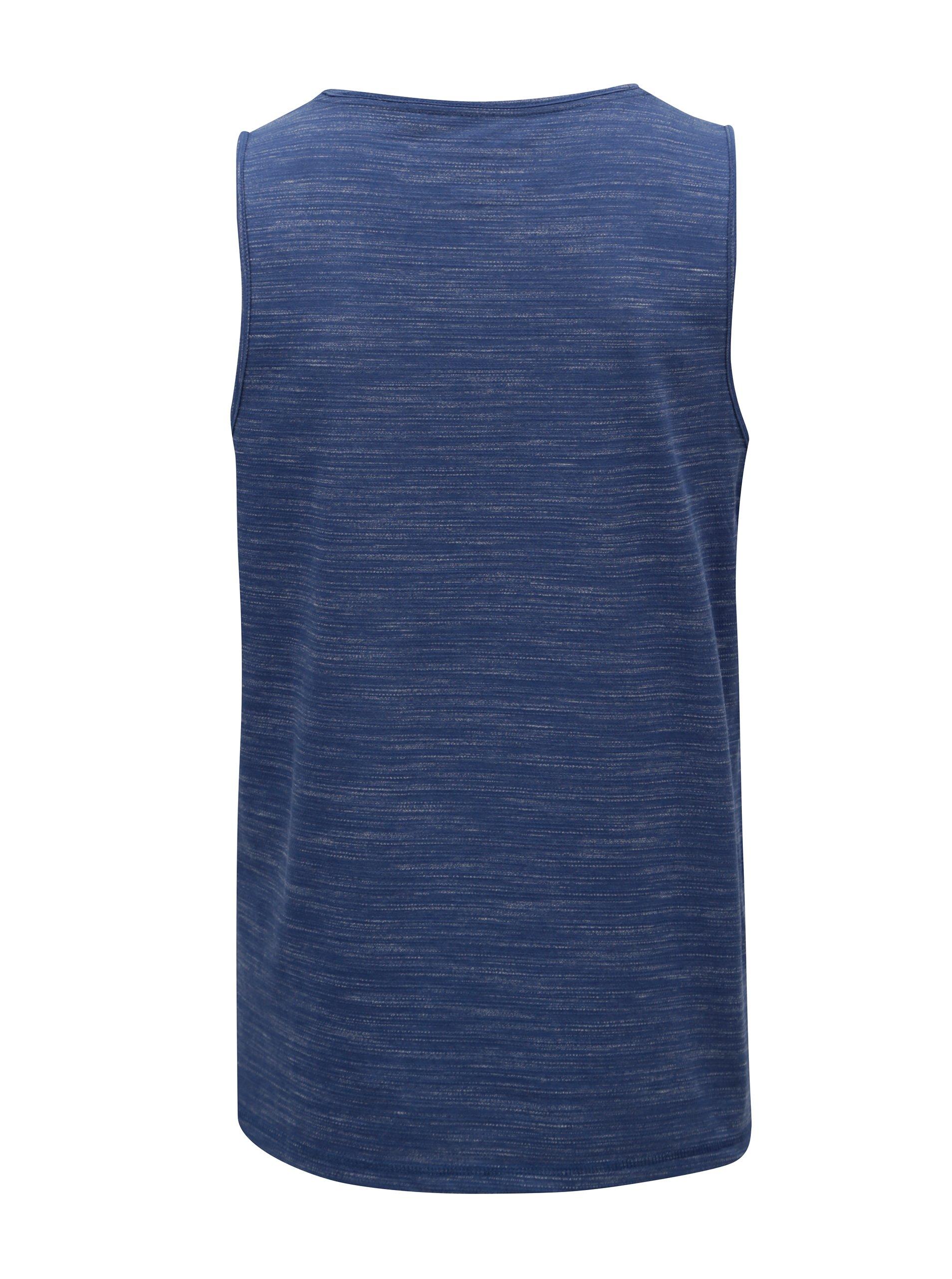 Modré pánské žíhané tílko s.Oliver 2b994f9a7f