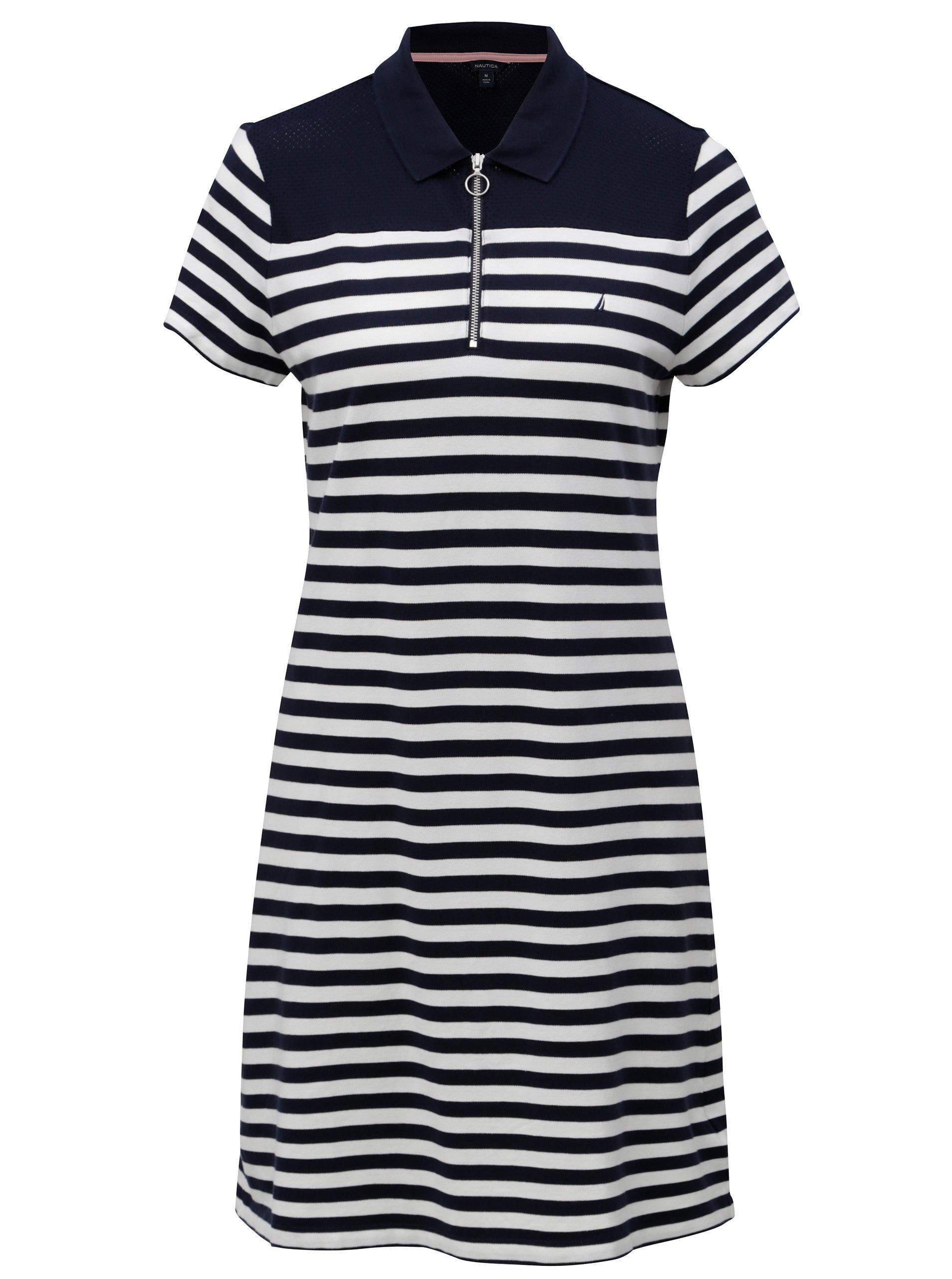 Pruhovane namornicke saty s limeckem m 2 produkty. Bílo-modré pruhované šaty  Nautica Above edadf7b09fe
