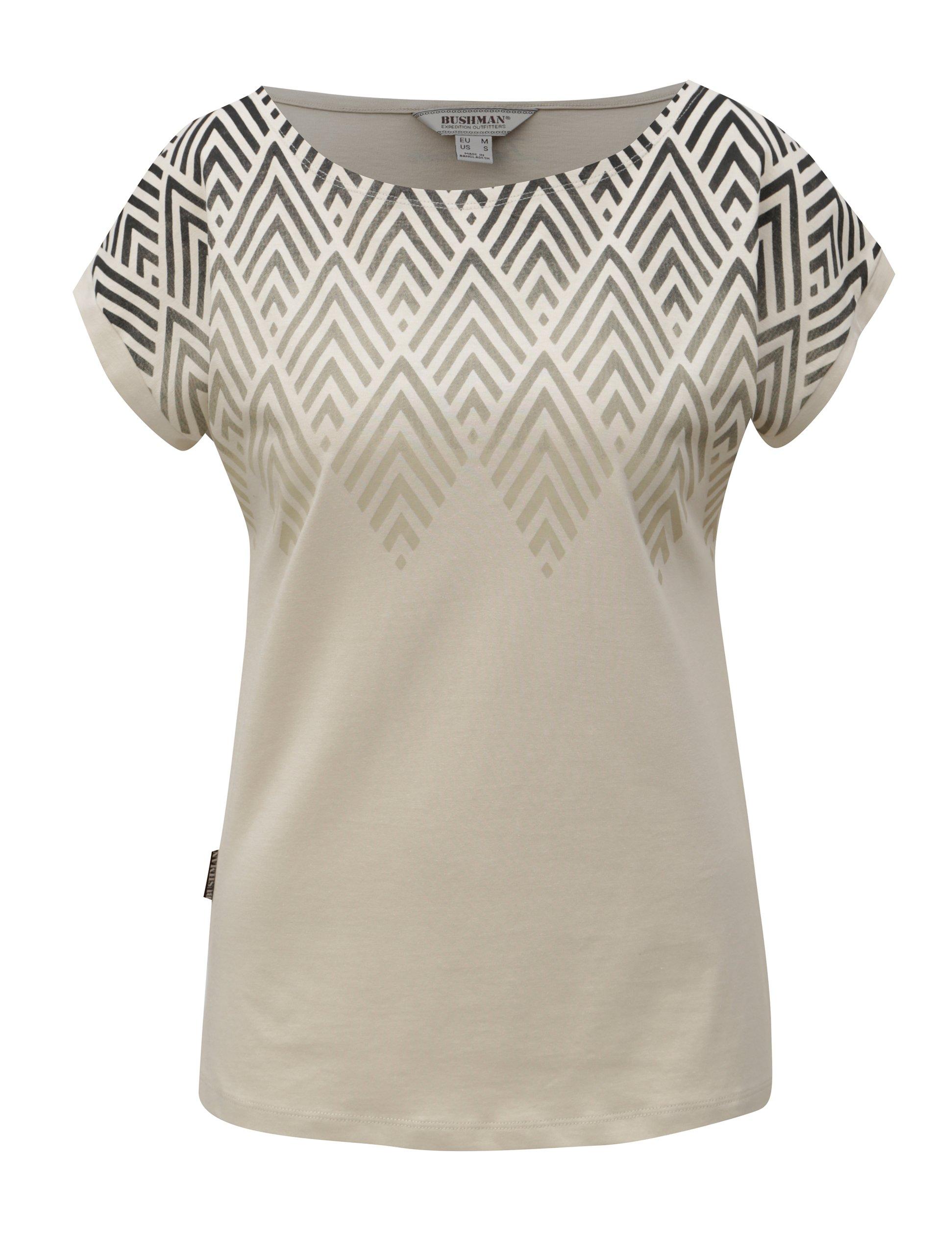 374fbfb0f109 Béžové dámske tričko s potlačou BUSHMAN Cala