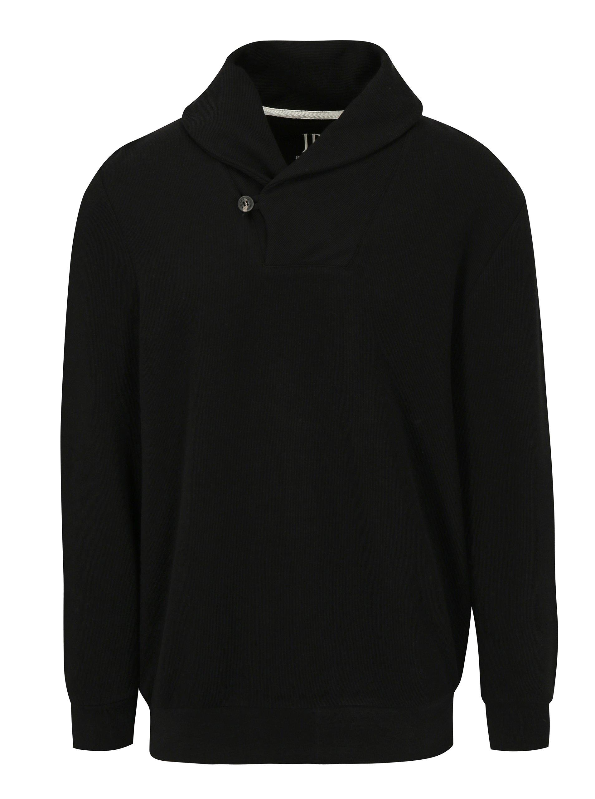 Černý pánský svetr s límcem JP 1880