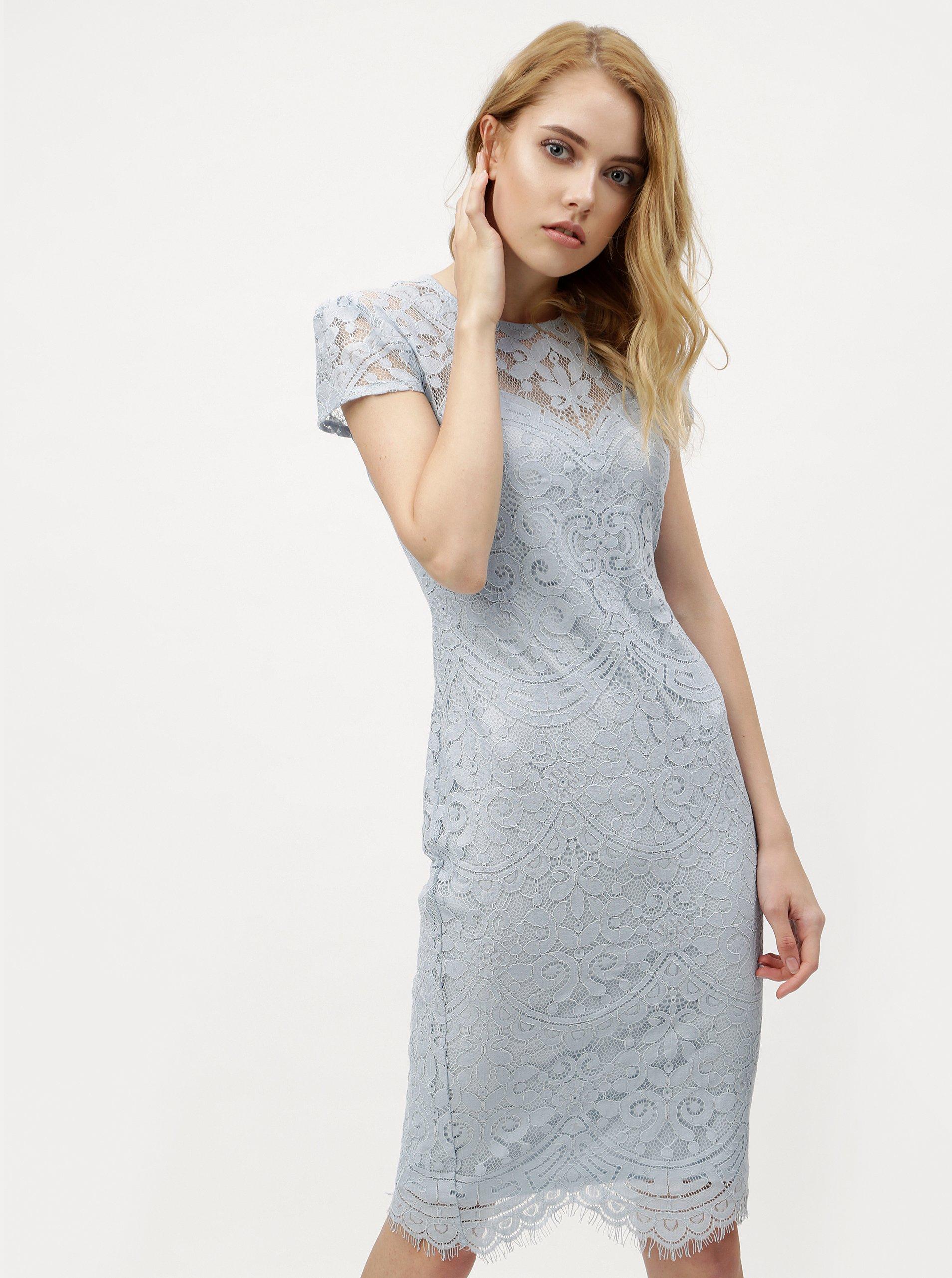 93e72fb617f1 Svetlomodré čipkované šaty ZOOT