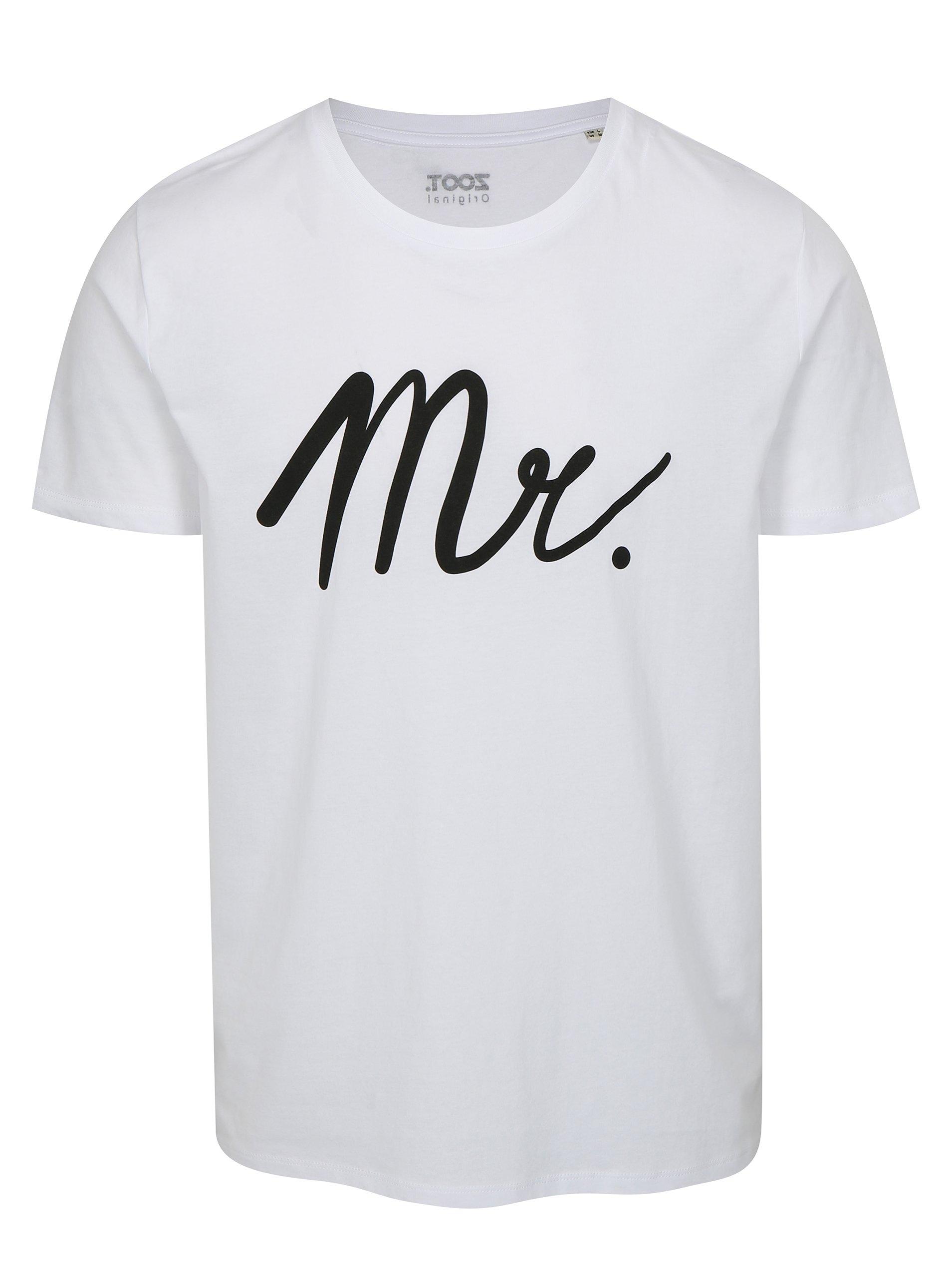 Bílé pánské tričko s potiskem ZOOT Mr white 8b79377f18