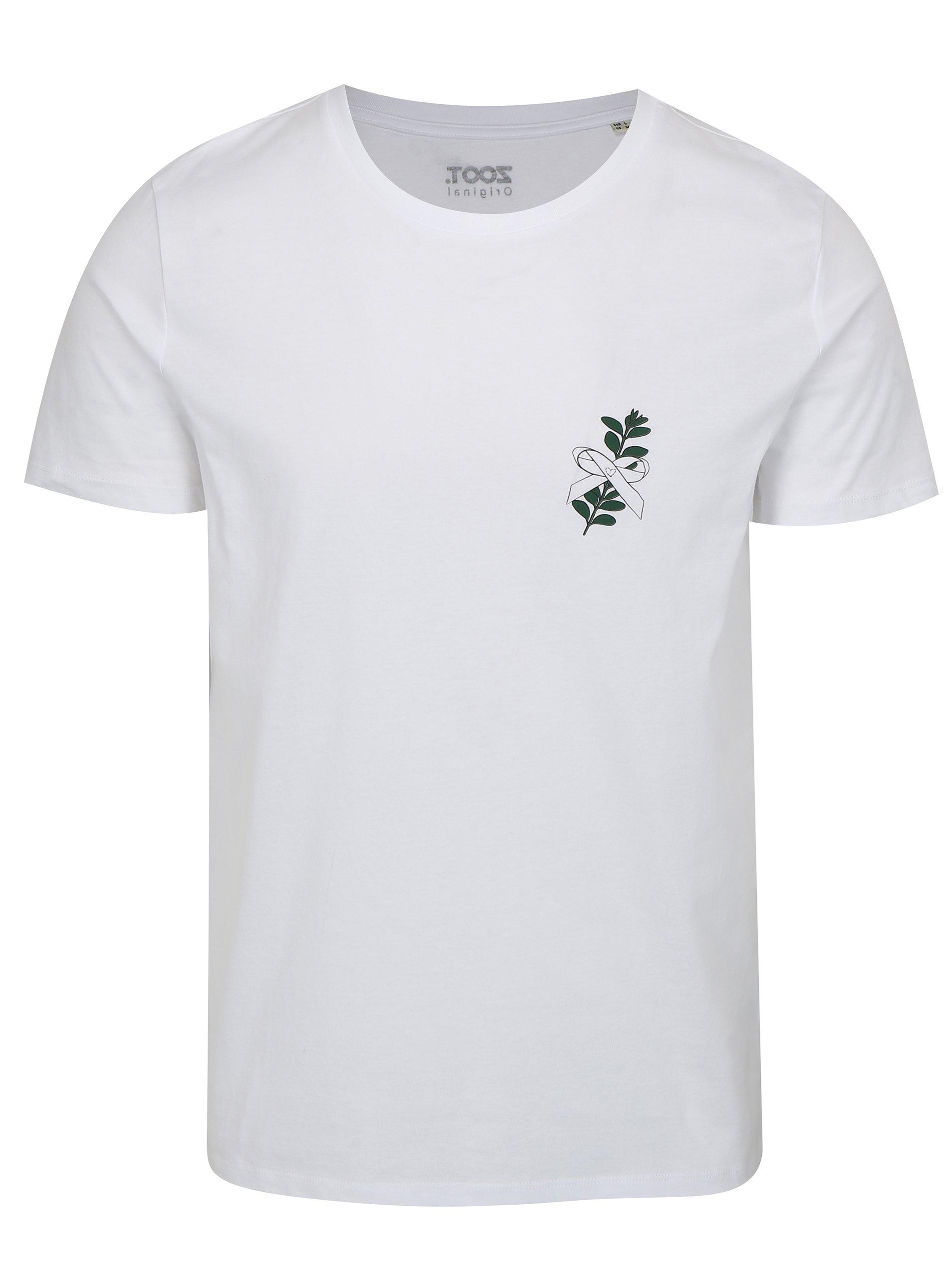 00a814e2d79b Biele pánske tričko s potlačou ZOOT Myrta