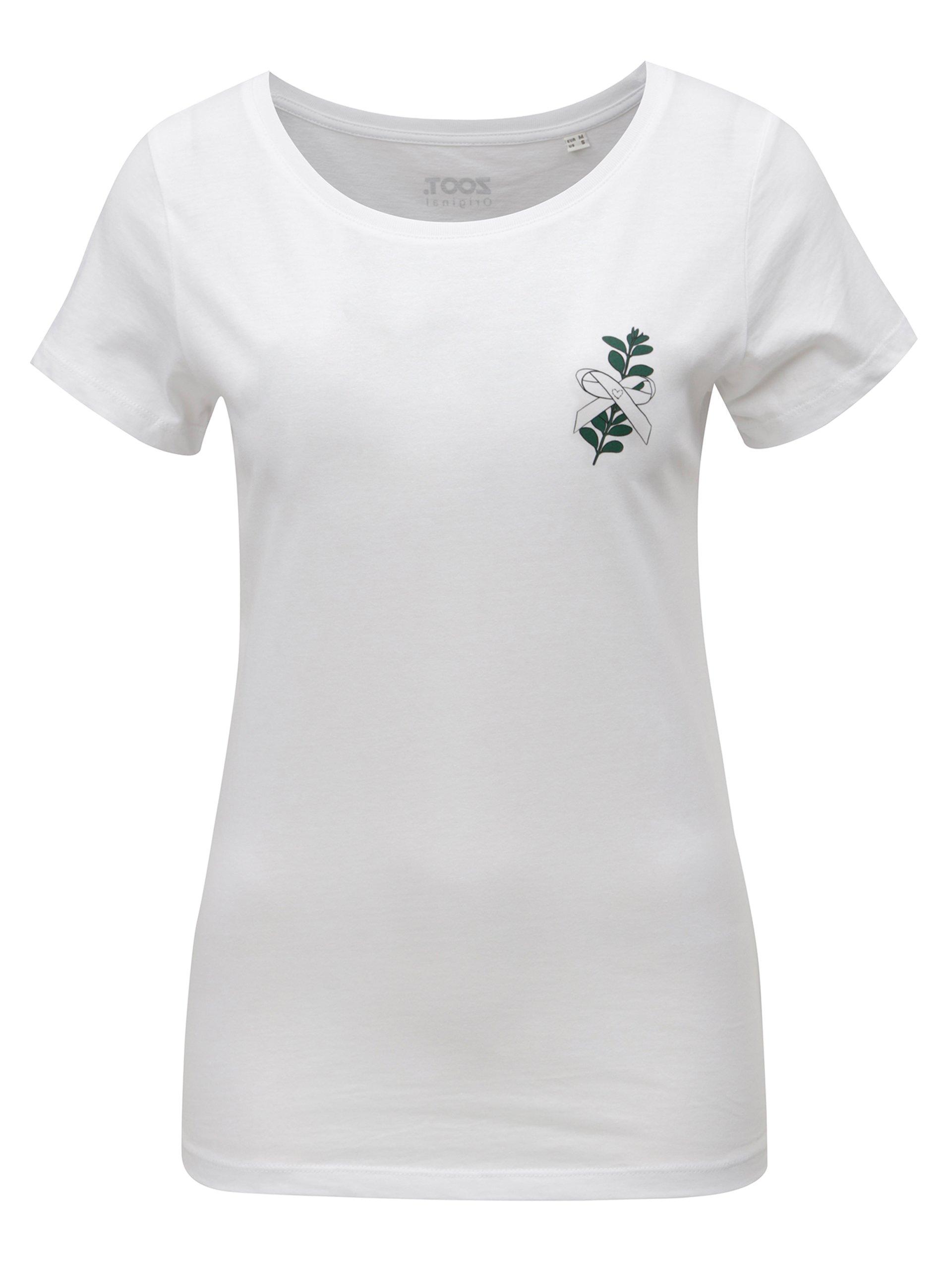 Bílé dámské tričko s potiskem ZOOT Myrta a583cb1512