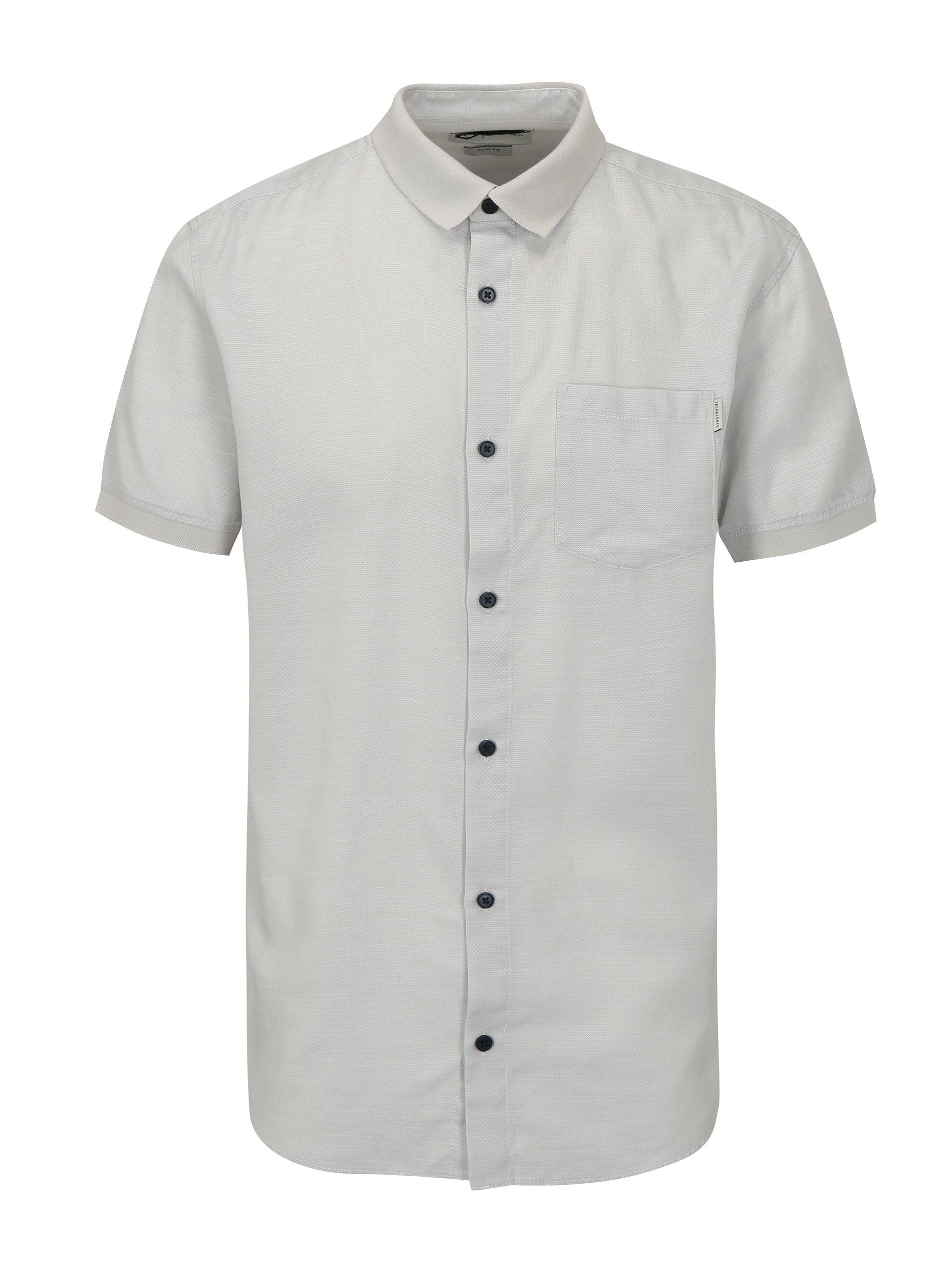 Světle šedá slim fit košile s náprsní kapsou Jack   Jones Glendale 823a937250