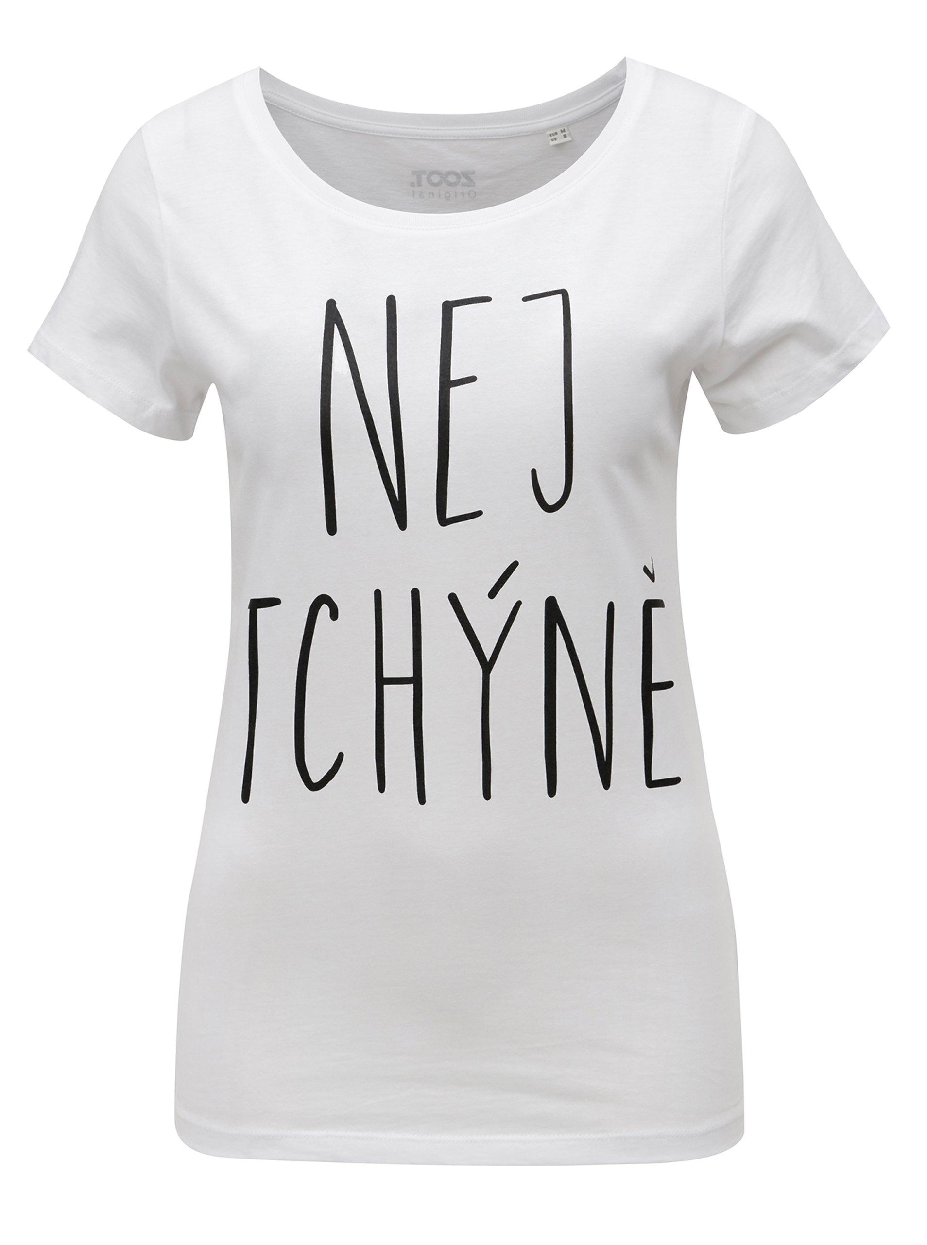 Fotografie Bílé dámské tričko s potiskem ZOOT Tchýně