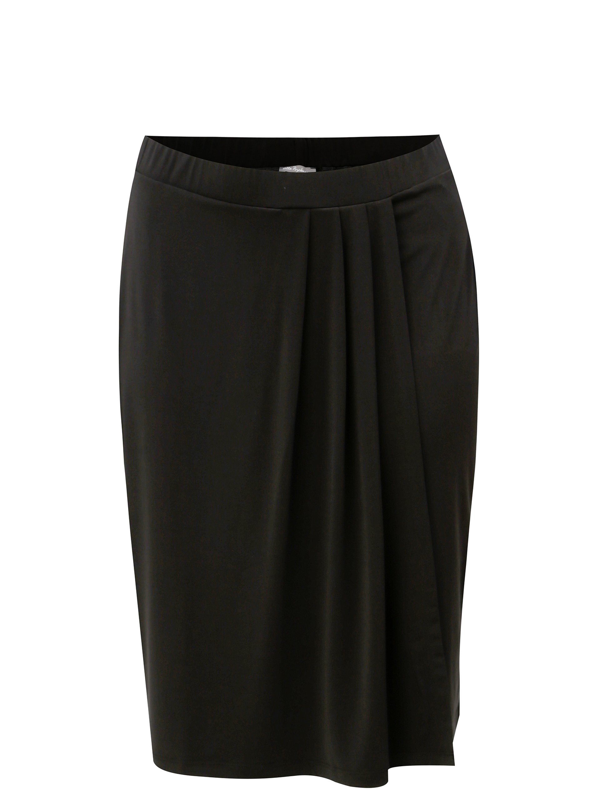 Černá sukně s řasením Ulla Popken