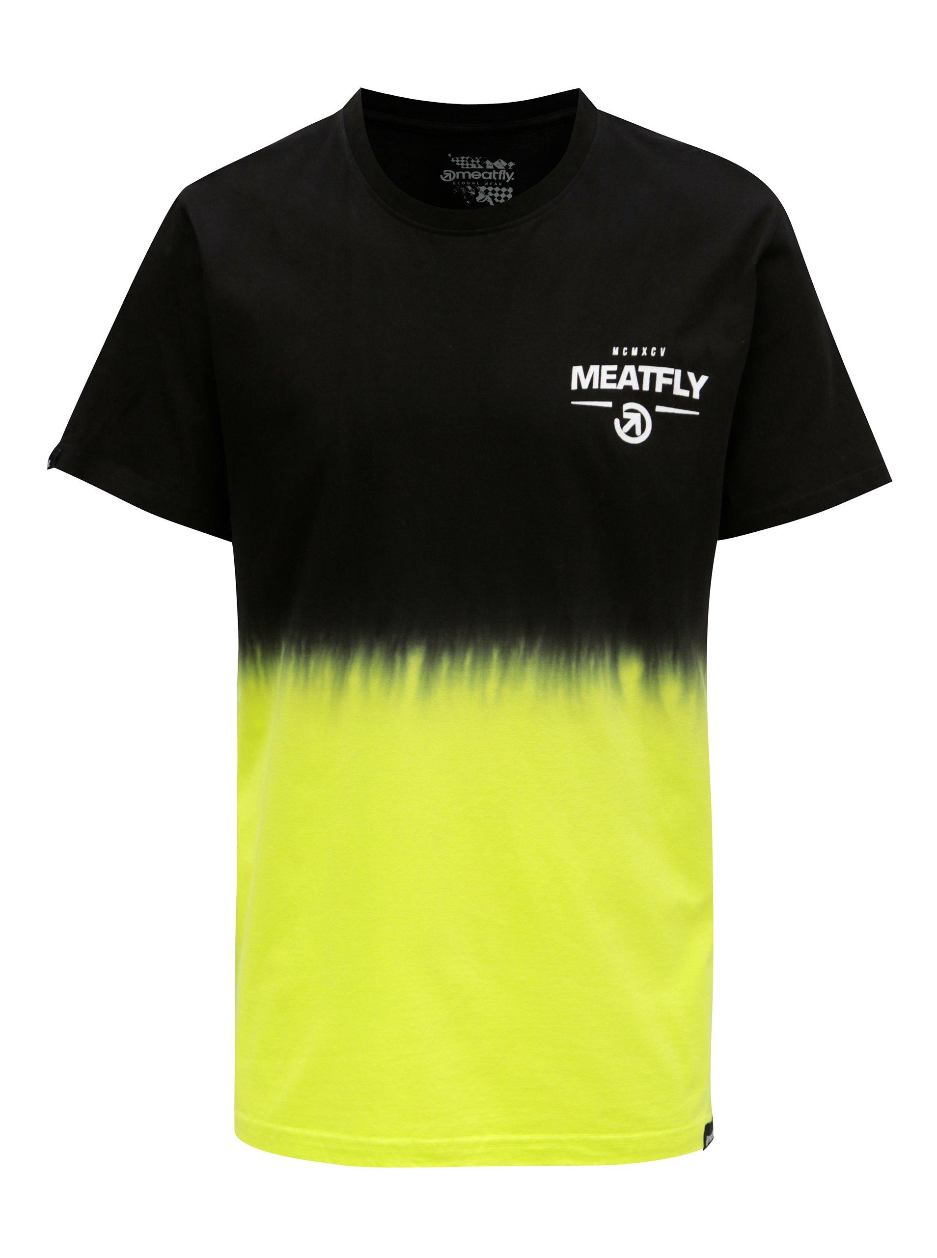 Čierno-žlté pánske tričko MEATFLY Spill