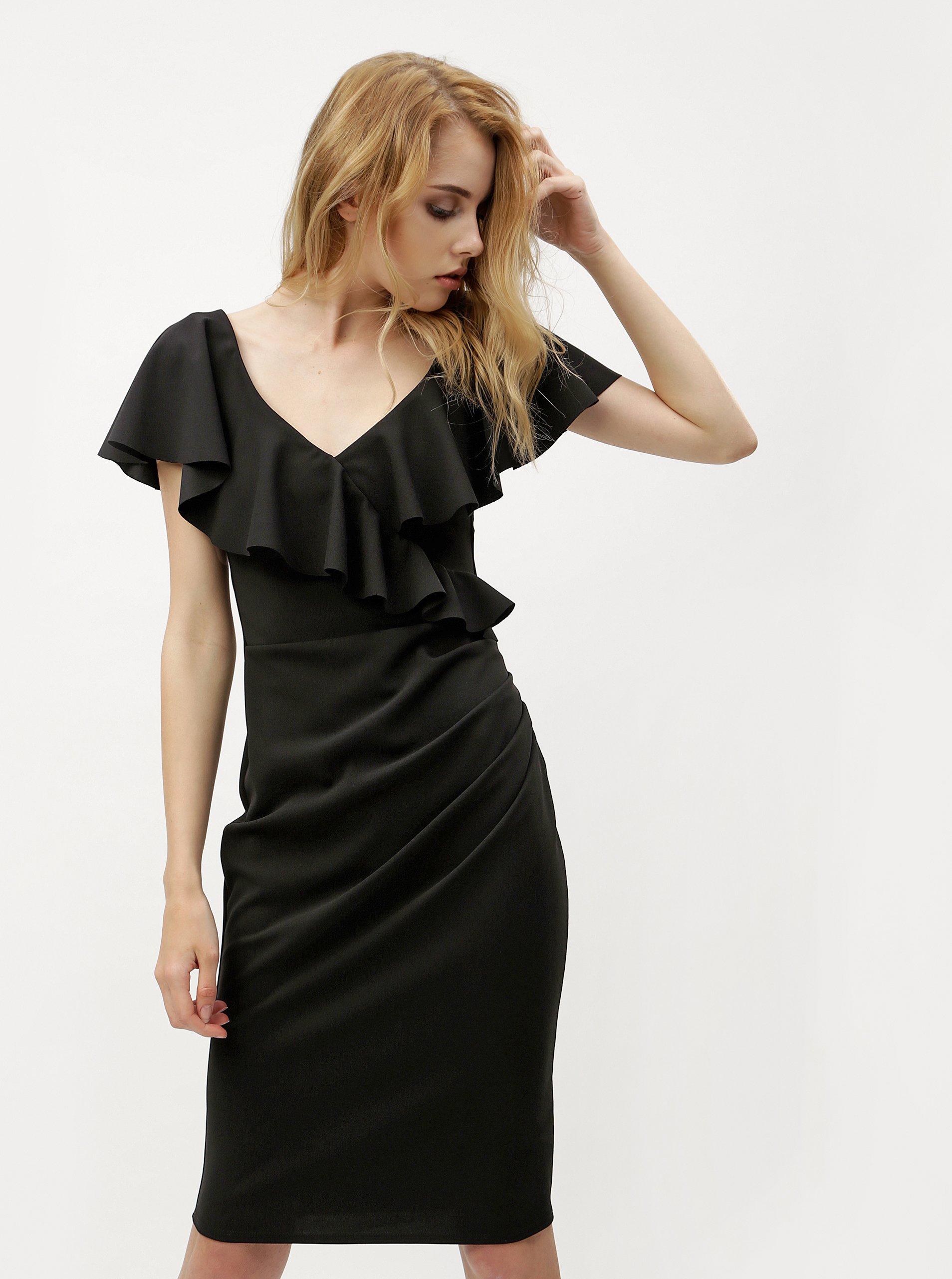 Černé šaty s volány ZOOT
