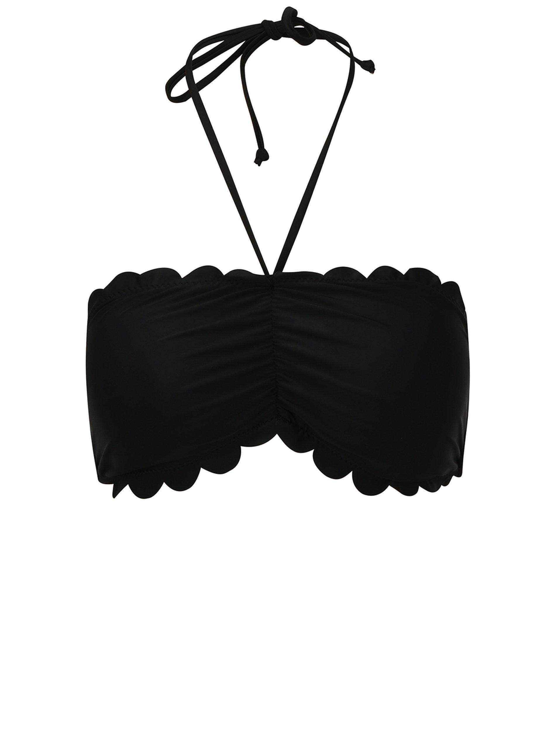 Černý horní díl plavek VERO MODA Scallop