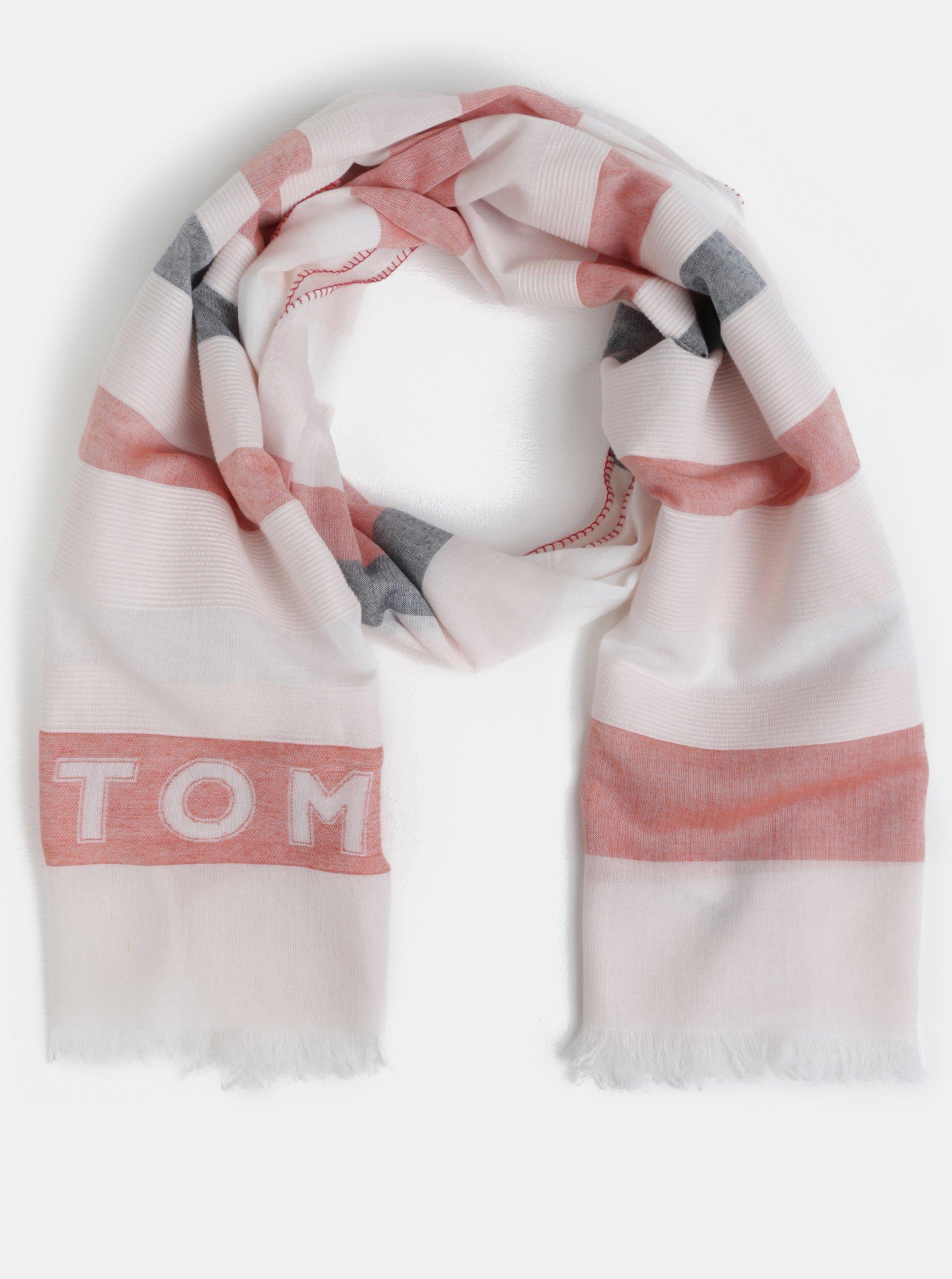 Červeno-bílý šátek Tommy Hilfiger 953a99bd4f
