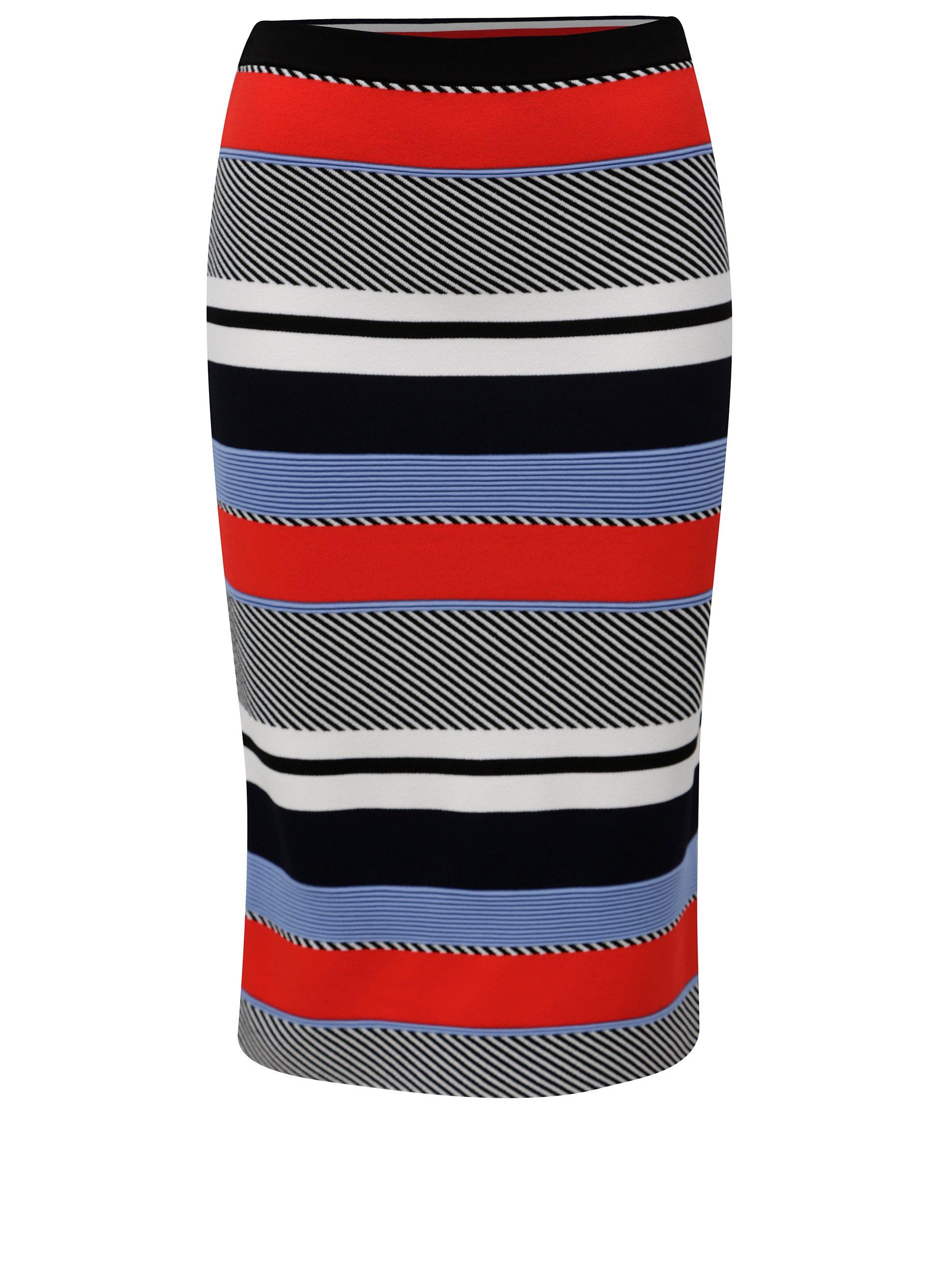 518068861d Červeno-modrá pruhovaná sukňa Tommy Hilfiger