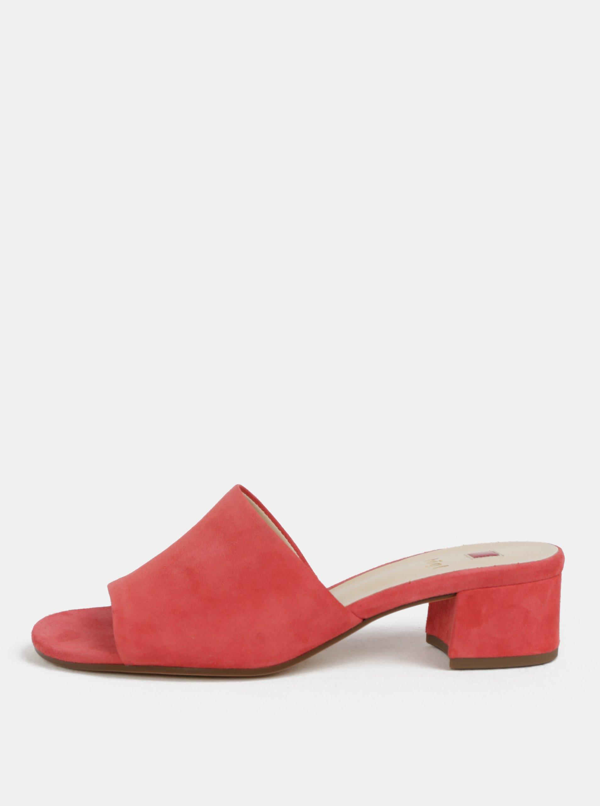 0b238ea47dea Ružové papuče na podpätku Högl