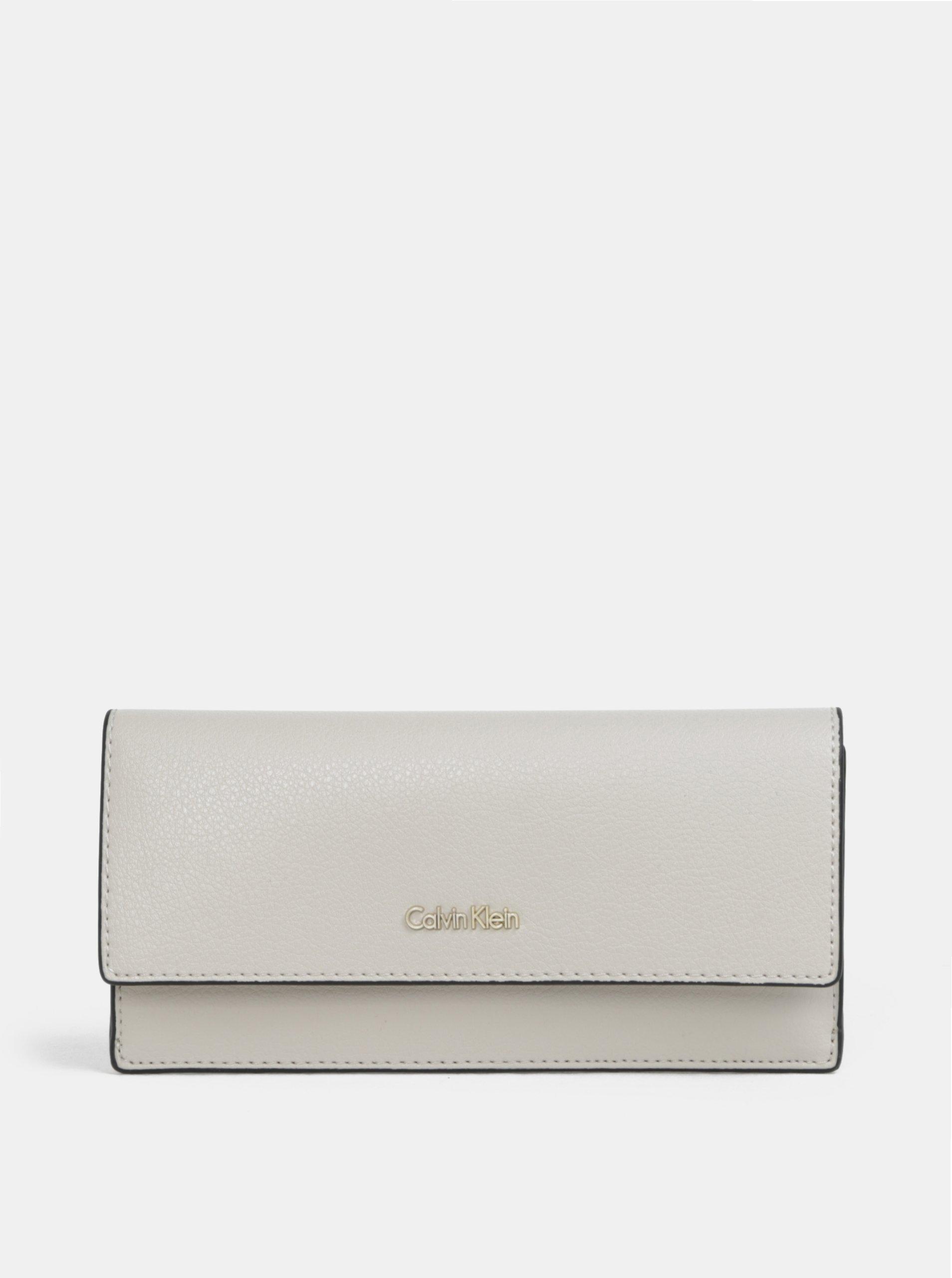 8f4bcea4911f Béžová veľká dámska peňaženka Calvin Klein Jeans