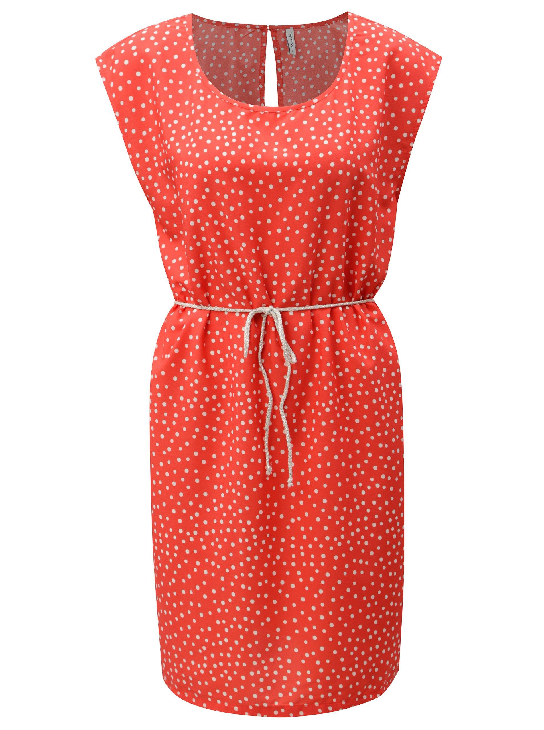 Červené bodkované šaty Blendshe Dot