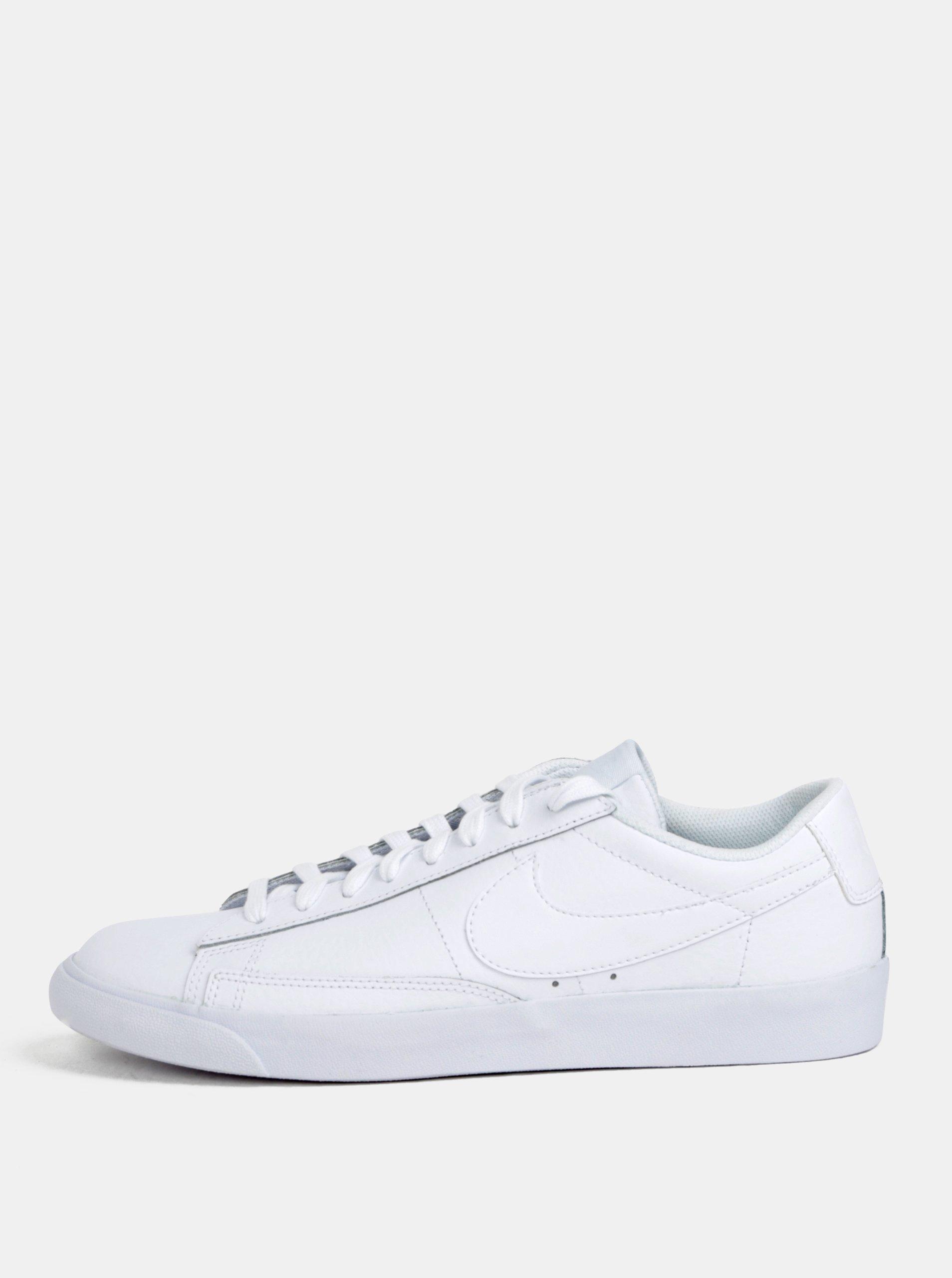 Bílé pánské kožené tenisky Nike Blazer Low