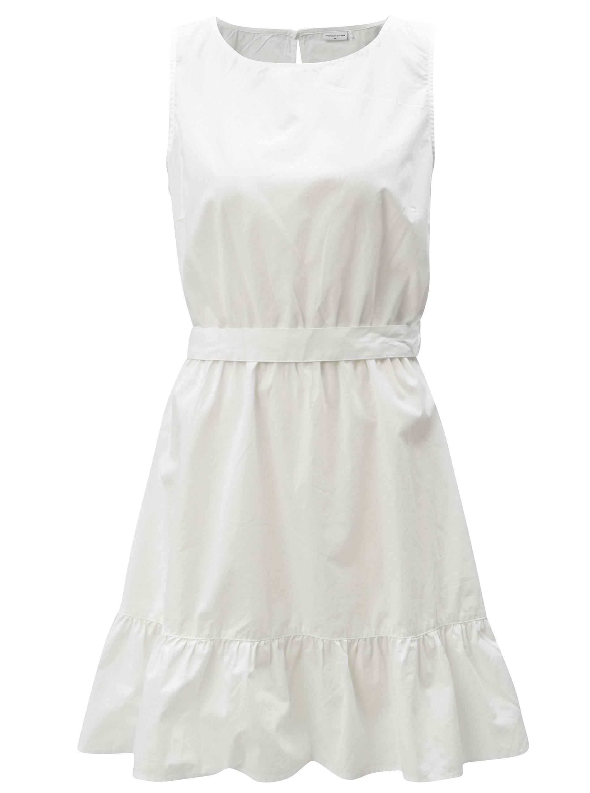 Bílé šaty s volánem a zavazováním Jacqueline de Yong Damilla