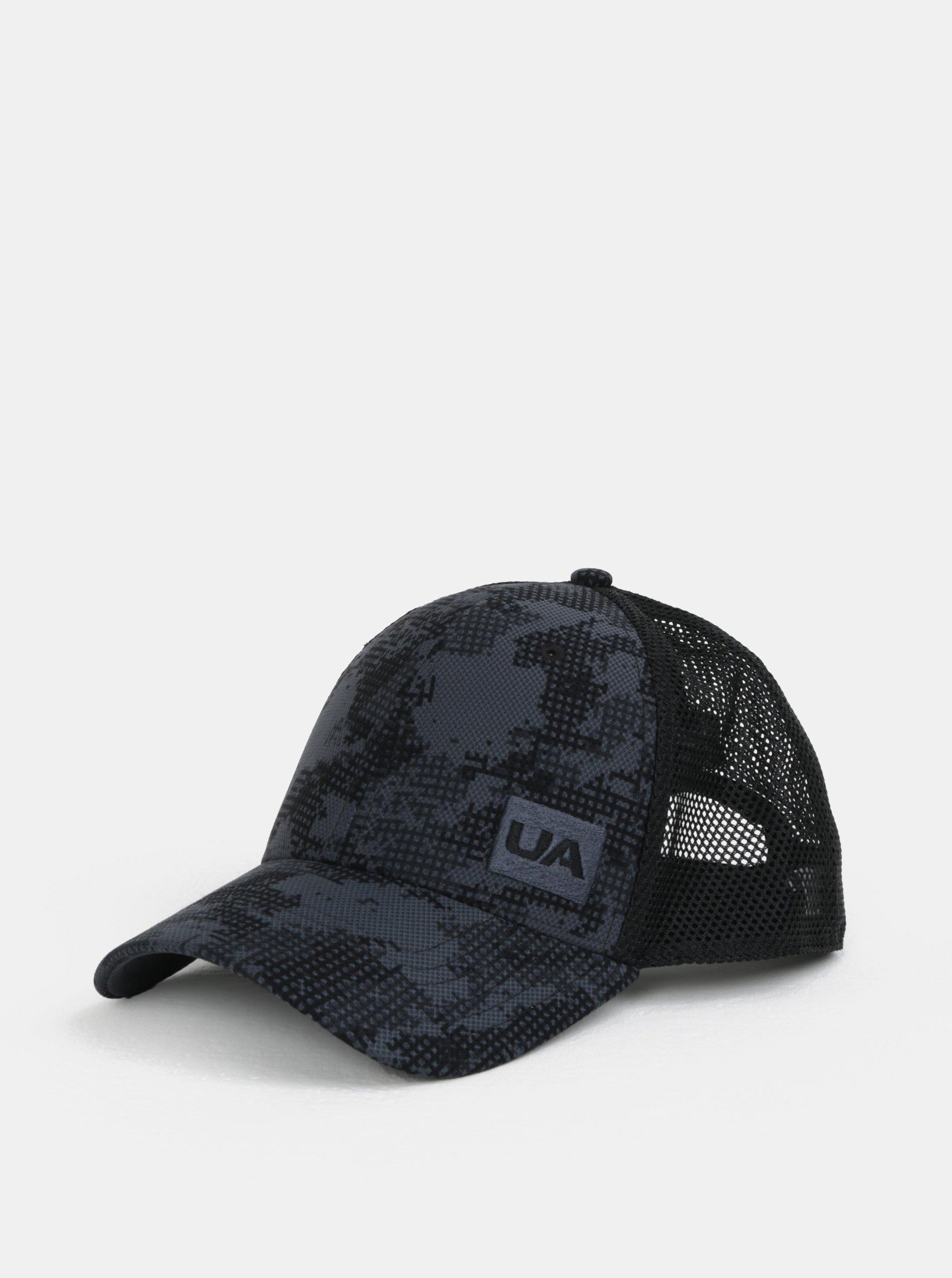 Šedo-černá vzorovaná pánská kšiltovka Under Armour e26fc62f7c
