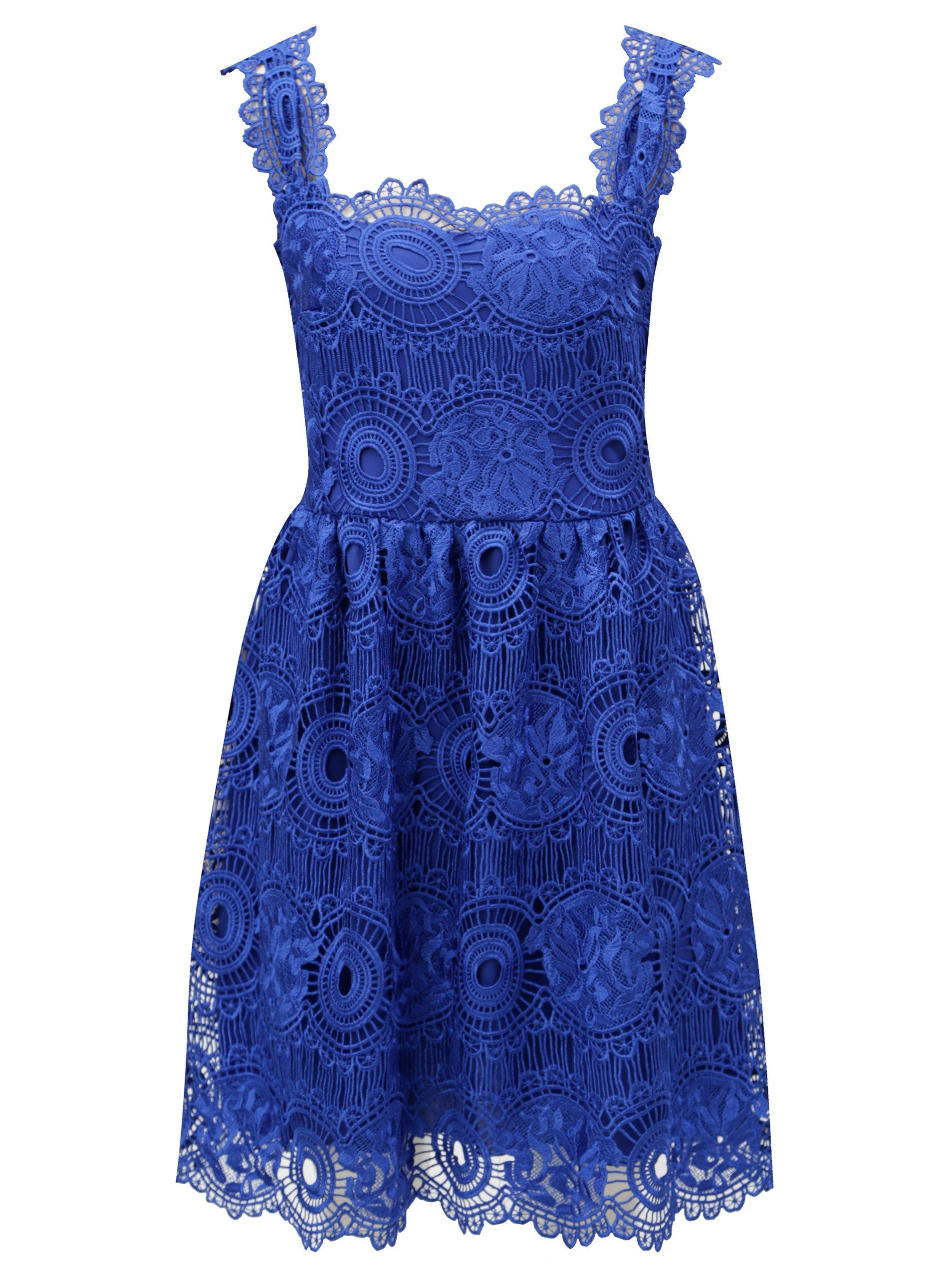 Modré čipkované šaty Miss Grey Karina c18048f0d62