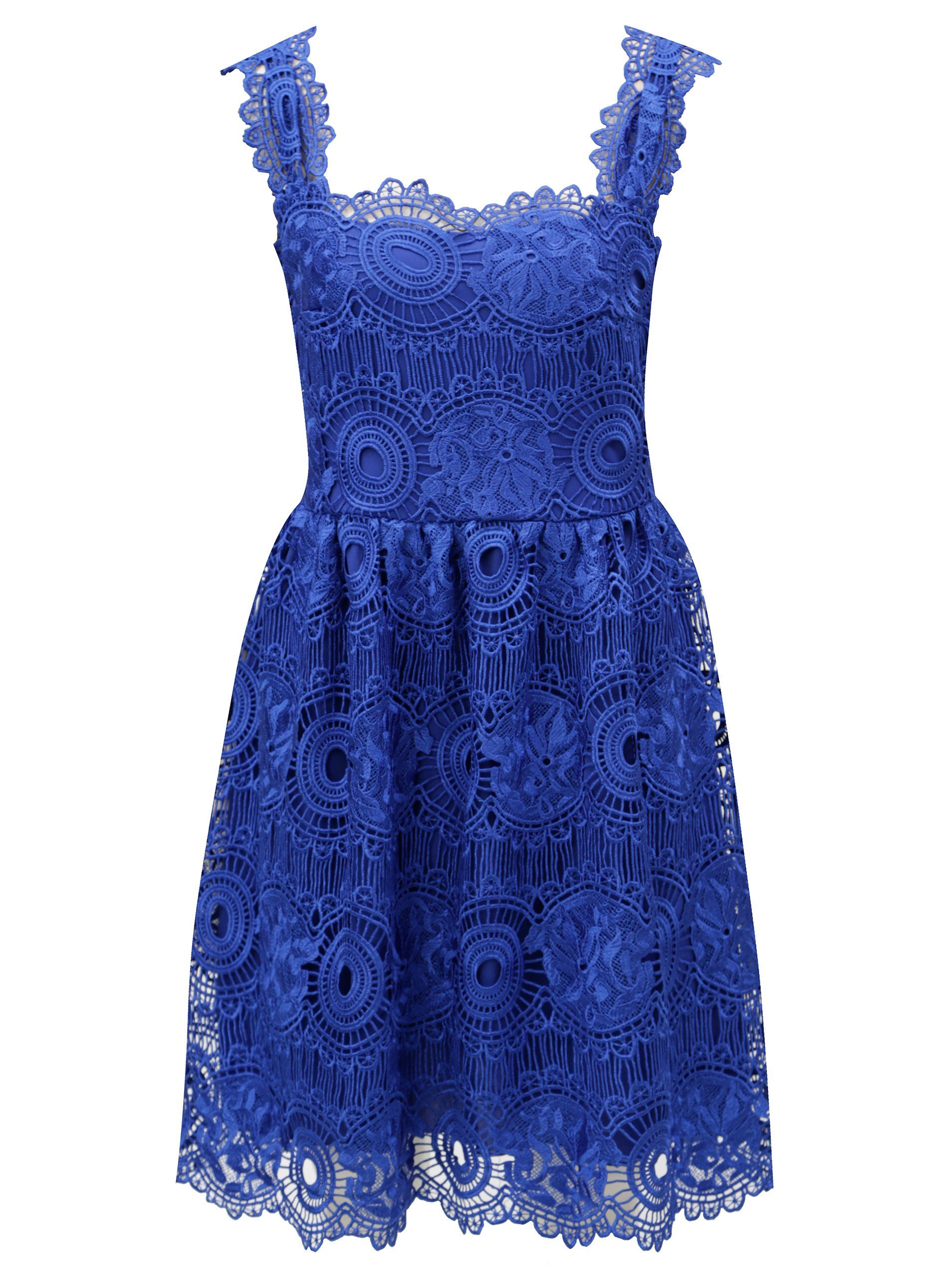 a5658dafcab2 Modré čipkované šaty Miss Grey Karina
