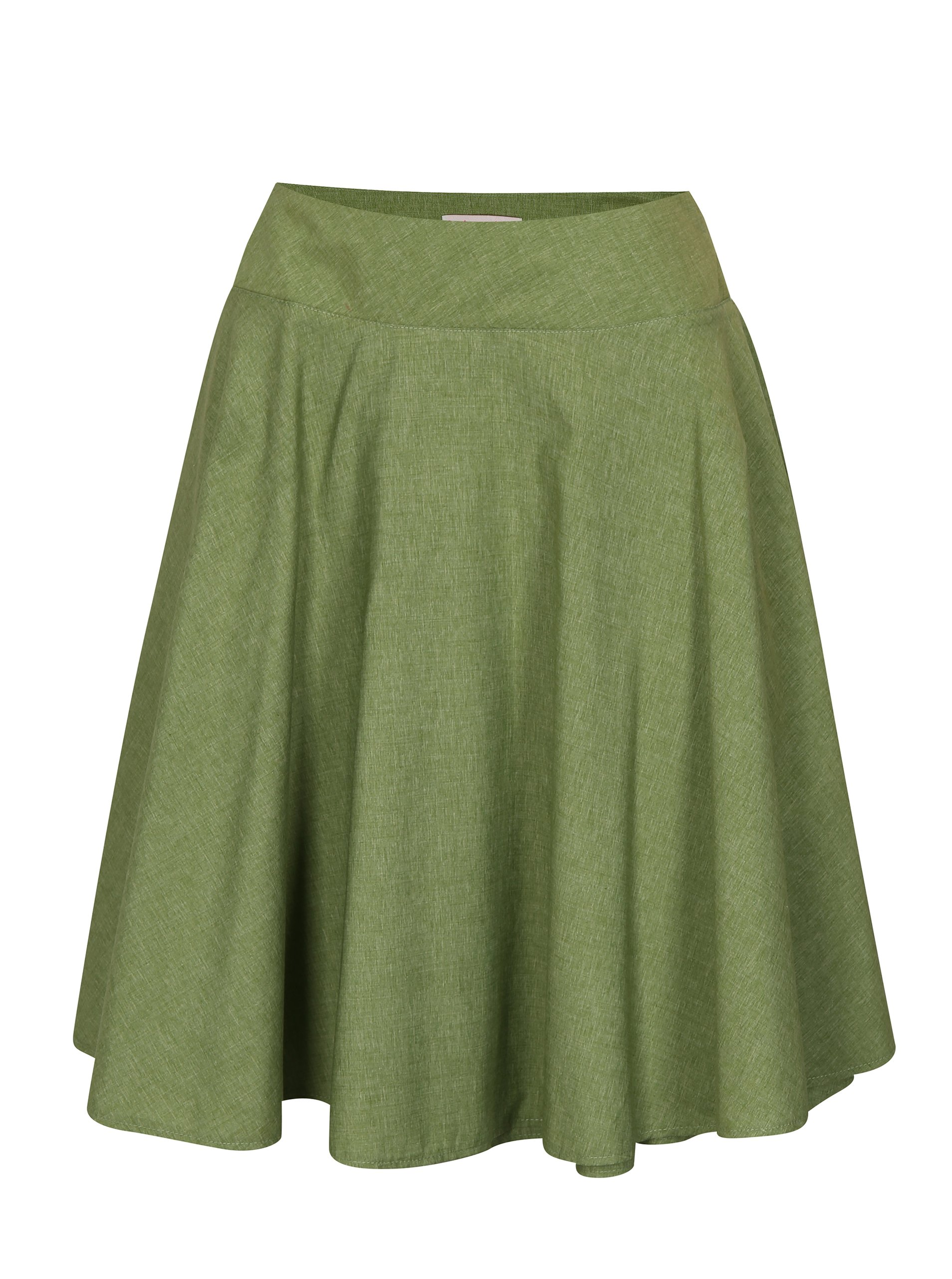 Zelená zavinovací sukně La femme MiMi