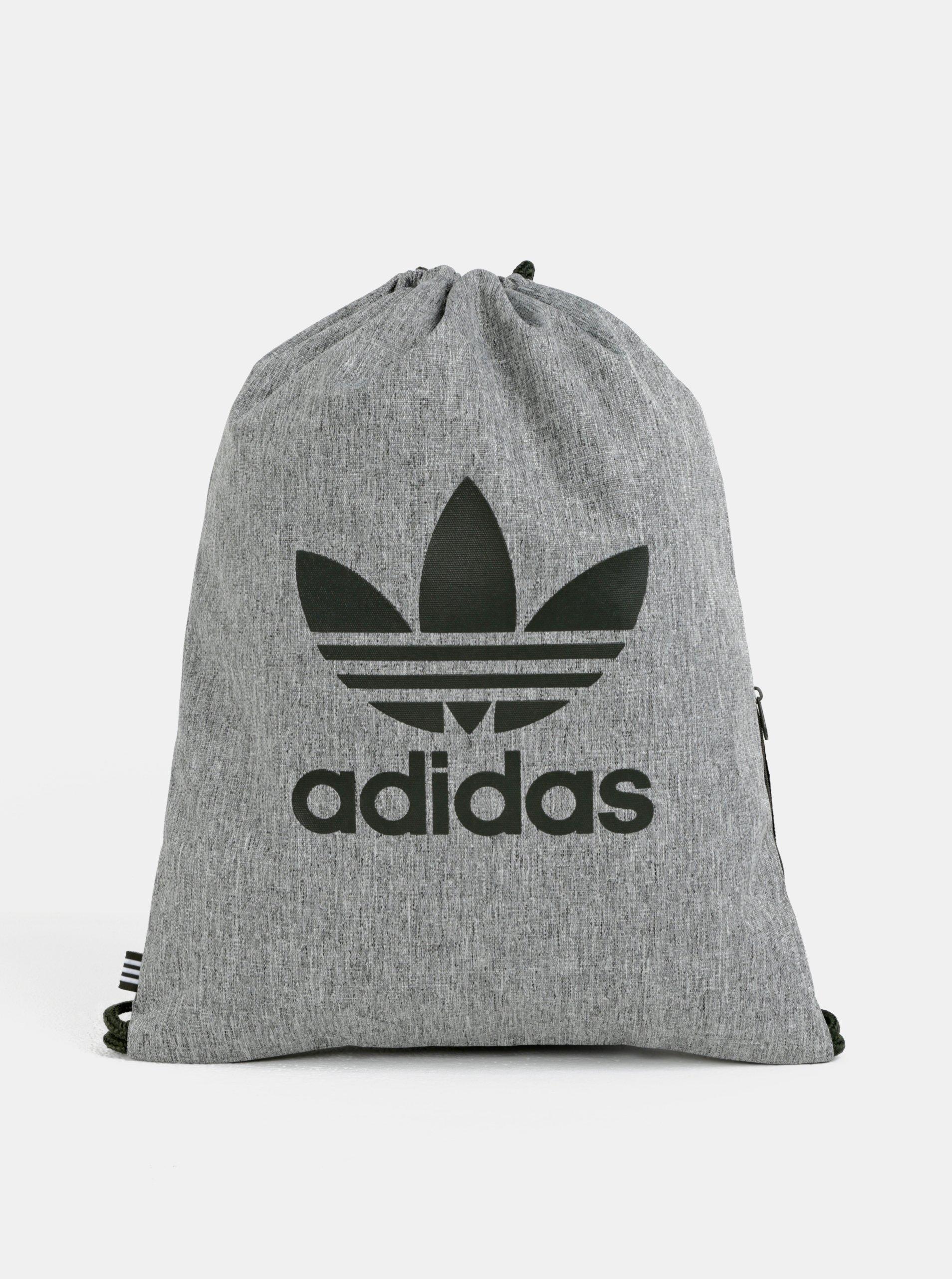 63022bc886 Sivý melírovaný vak s potlačou adidas Originals