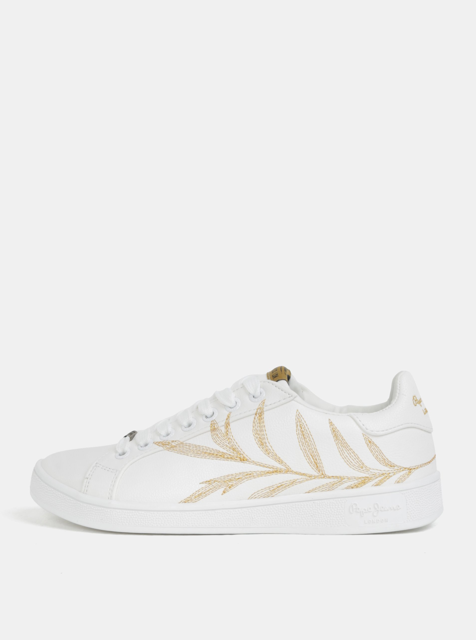 Biele dámske tenisky s výšivkou Pepe Jeans Broompton Embroidery b5360d254c0