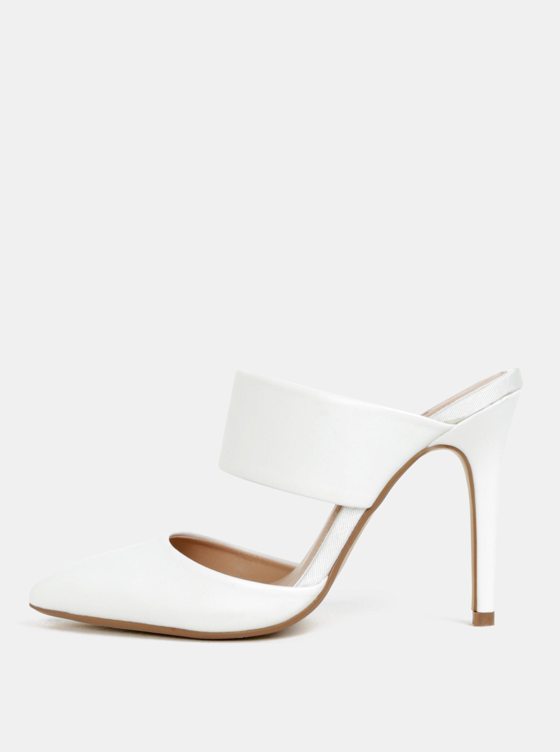 Bílé sandálky na vysokém podpatku Dorothy Perkins 31e258d5a1