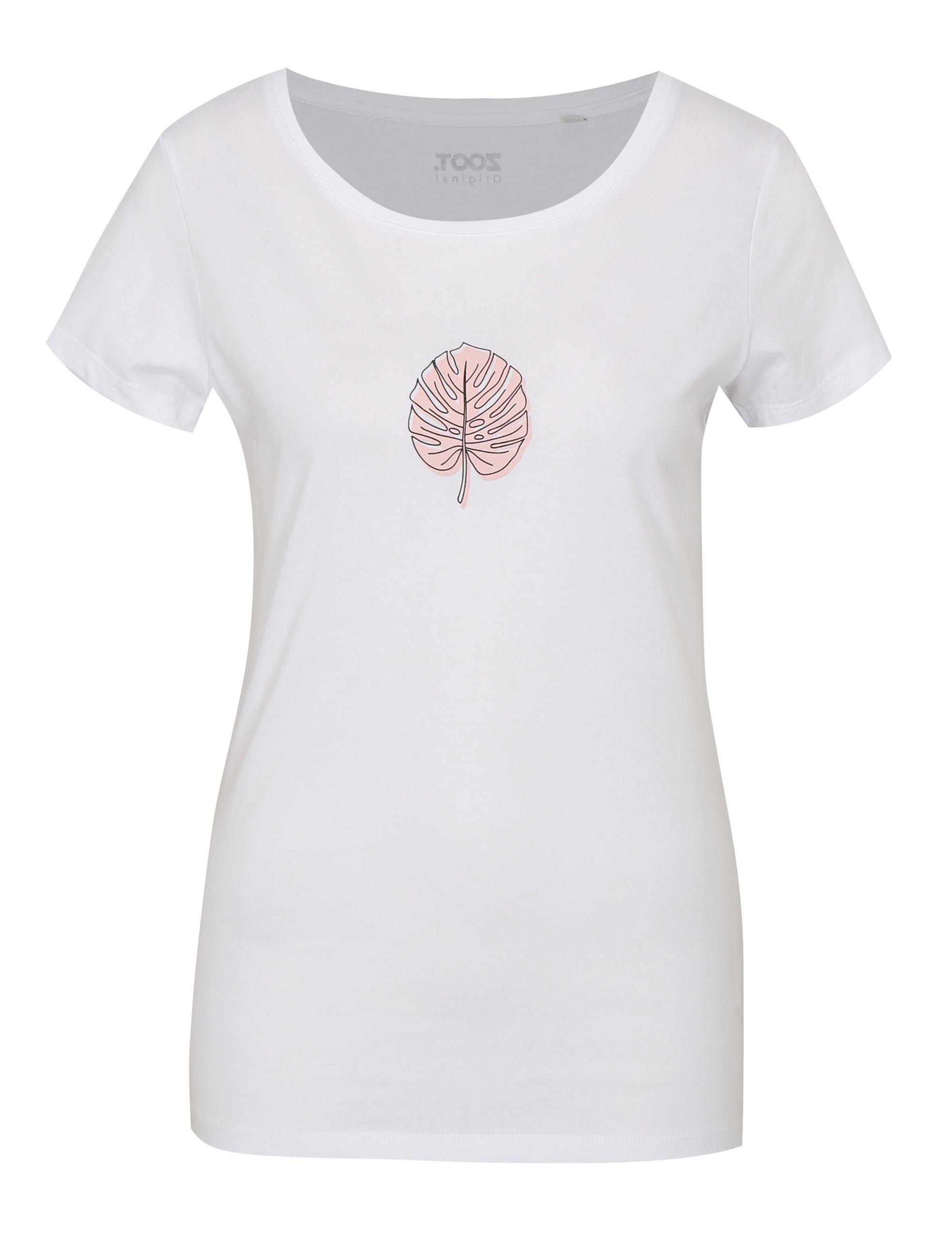 Bílé dámské tričko ZOOT Original Monstera 1fe23ab662