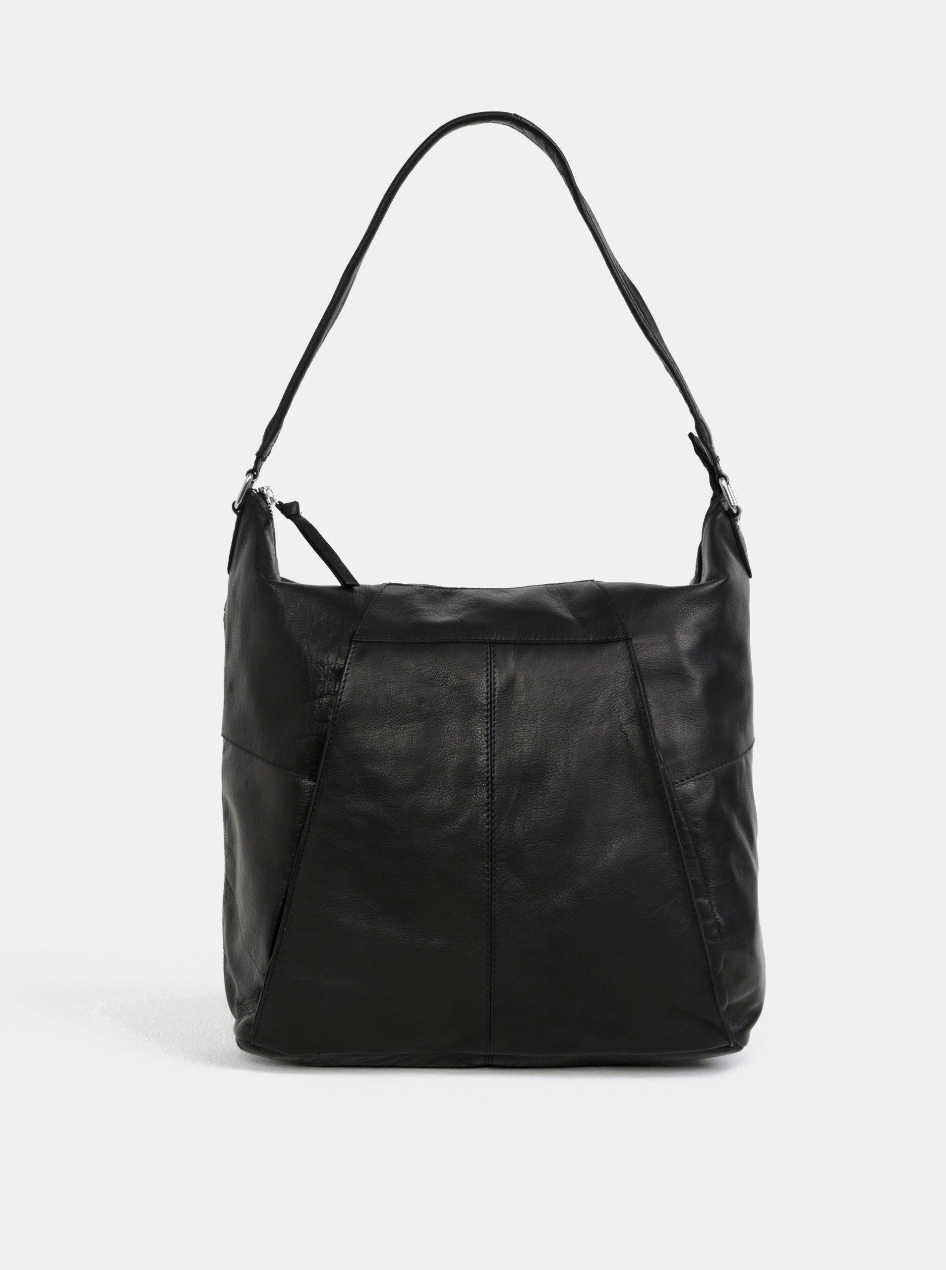 Černá kožená kabelka přes rameno Pieces Dehbra