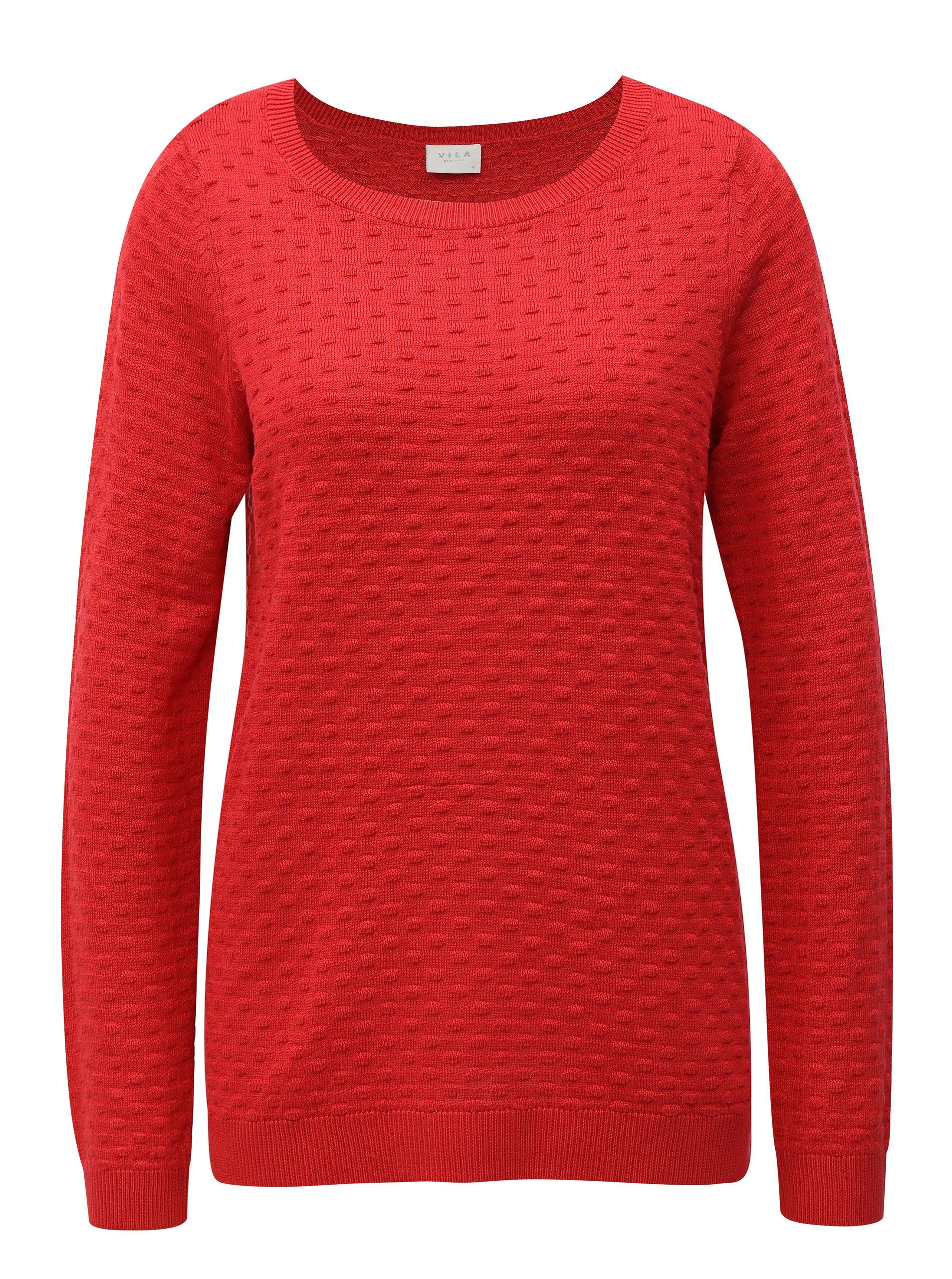 6f0bbcb939cc Červený sveter VILA Safarina