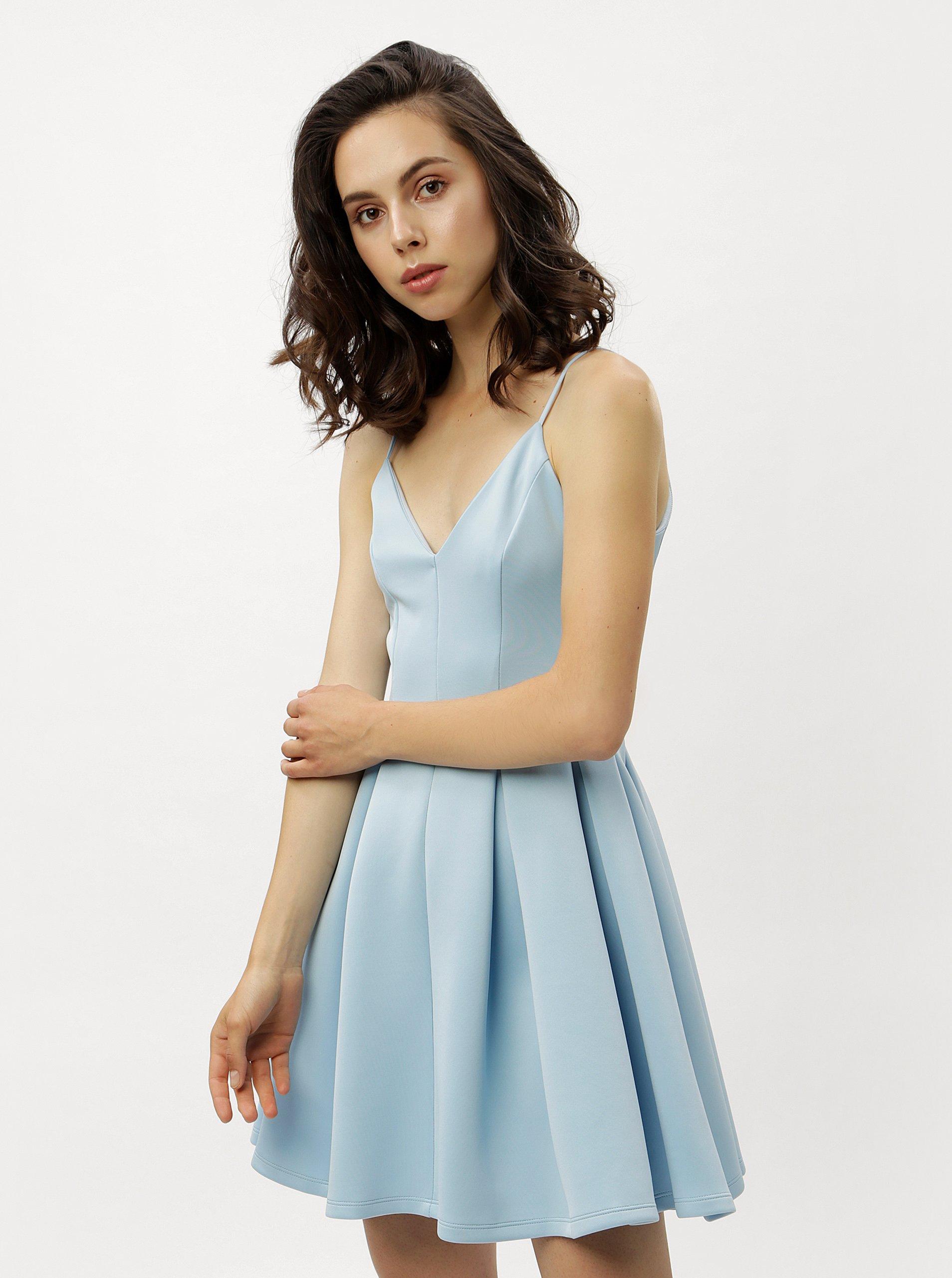 Světle modré šaty na ramínka Miss Selfridge