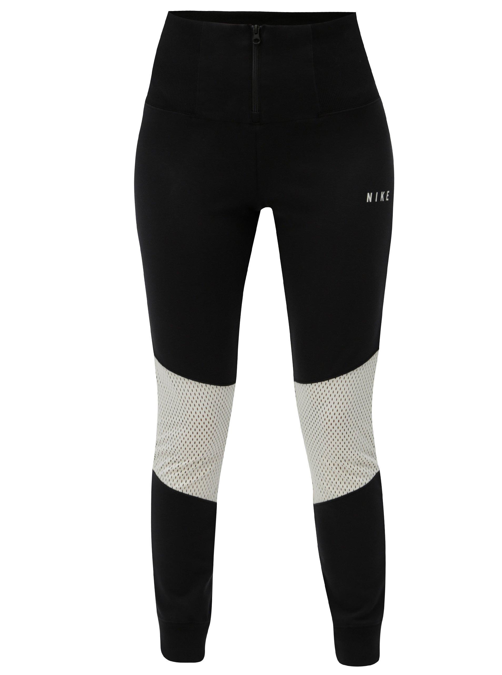Černé dámské legíny se zipem a vysokým pasem Nike