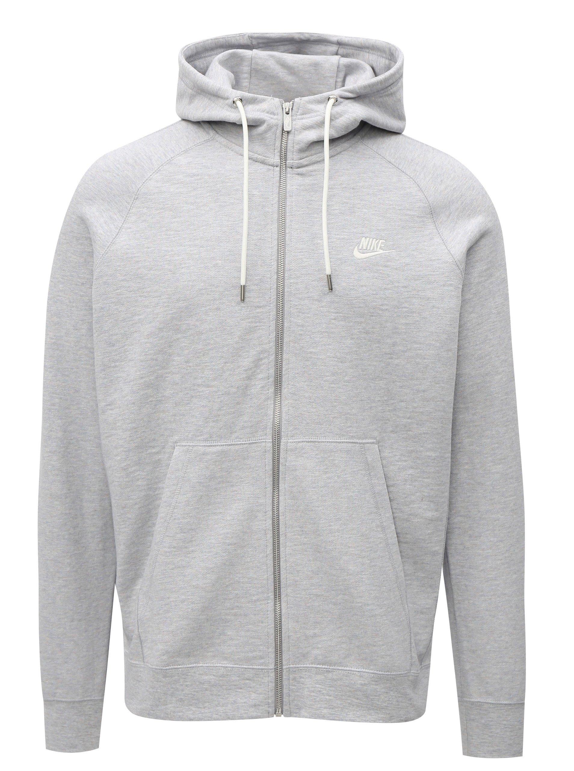 83ba4bba62a Světle šedá pánská mikina na zip Nike Legacy