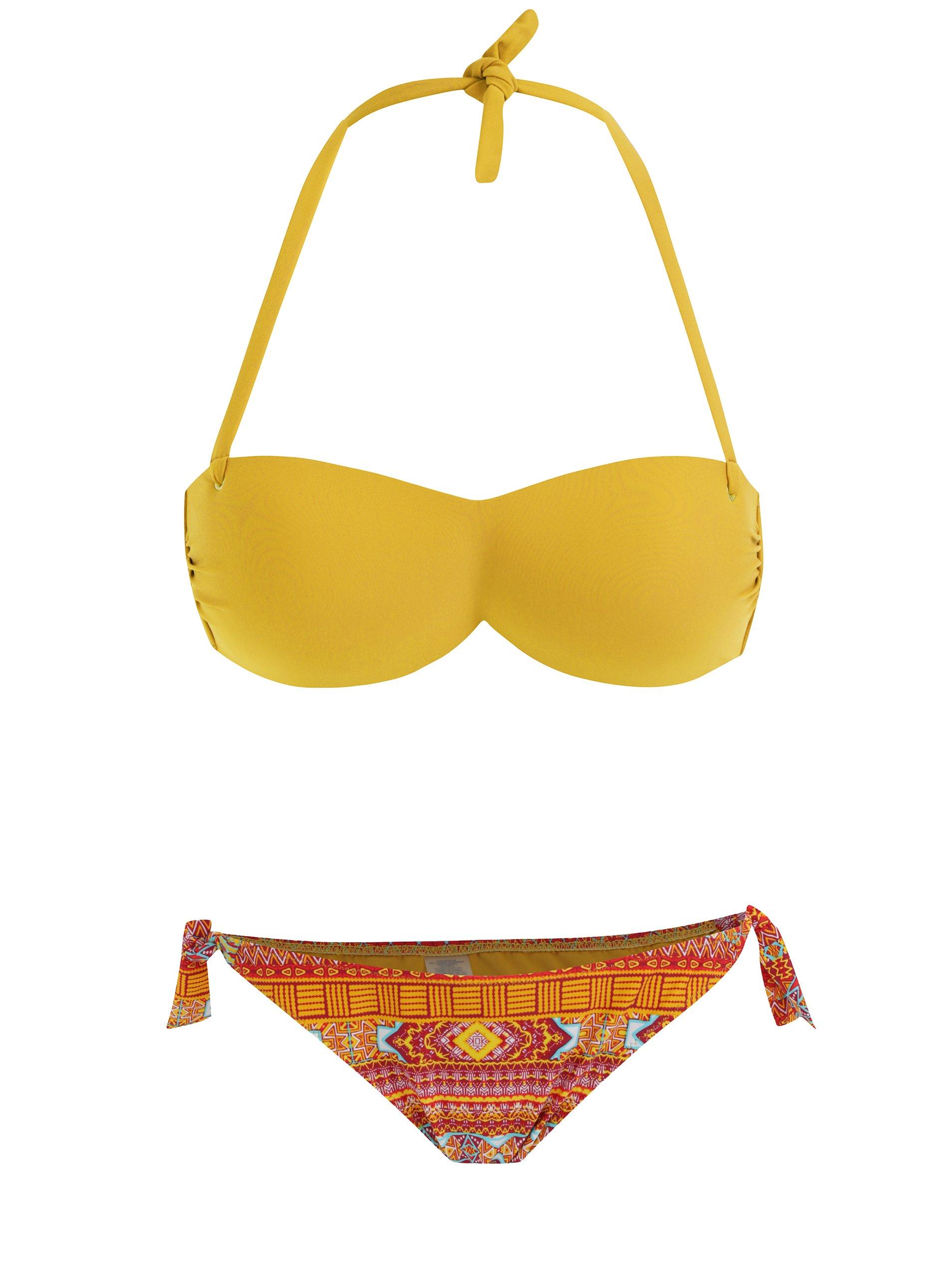 Oranžovo-žluté dvojdílné vzorované plavky ZOOT