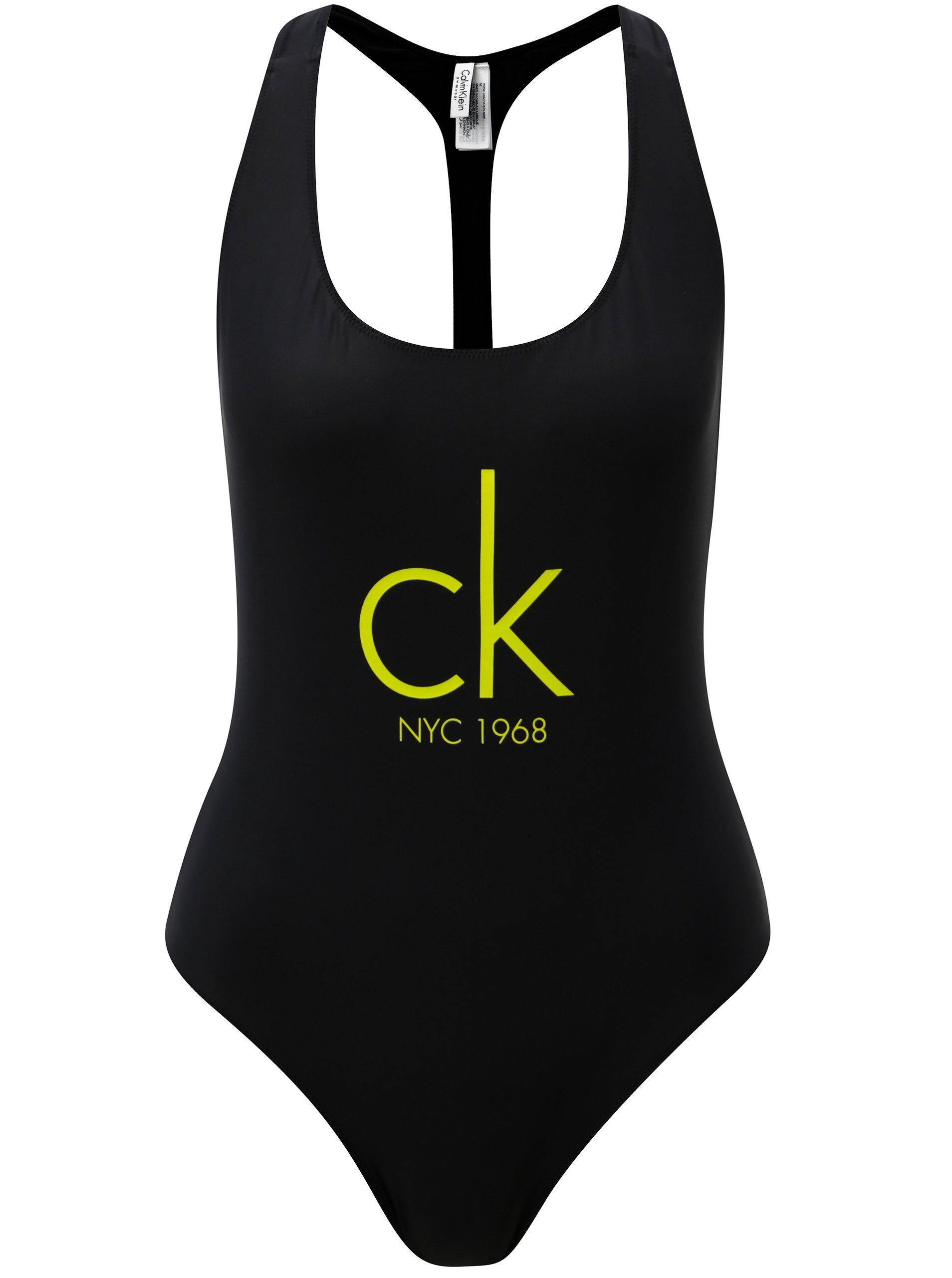 Černé jednodílné plavky Calvin Klein