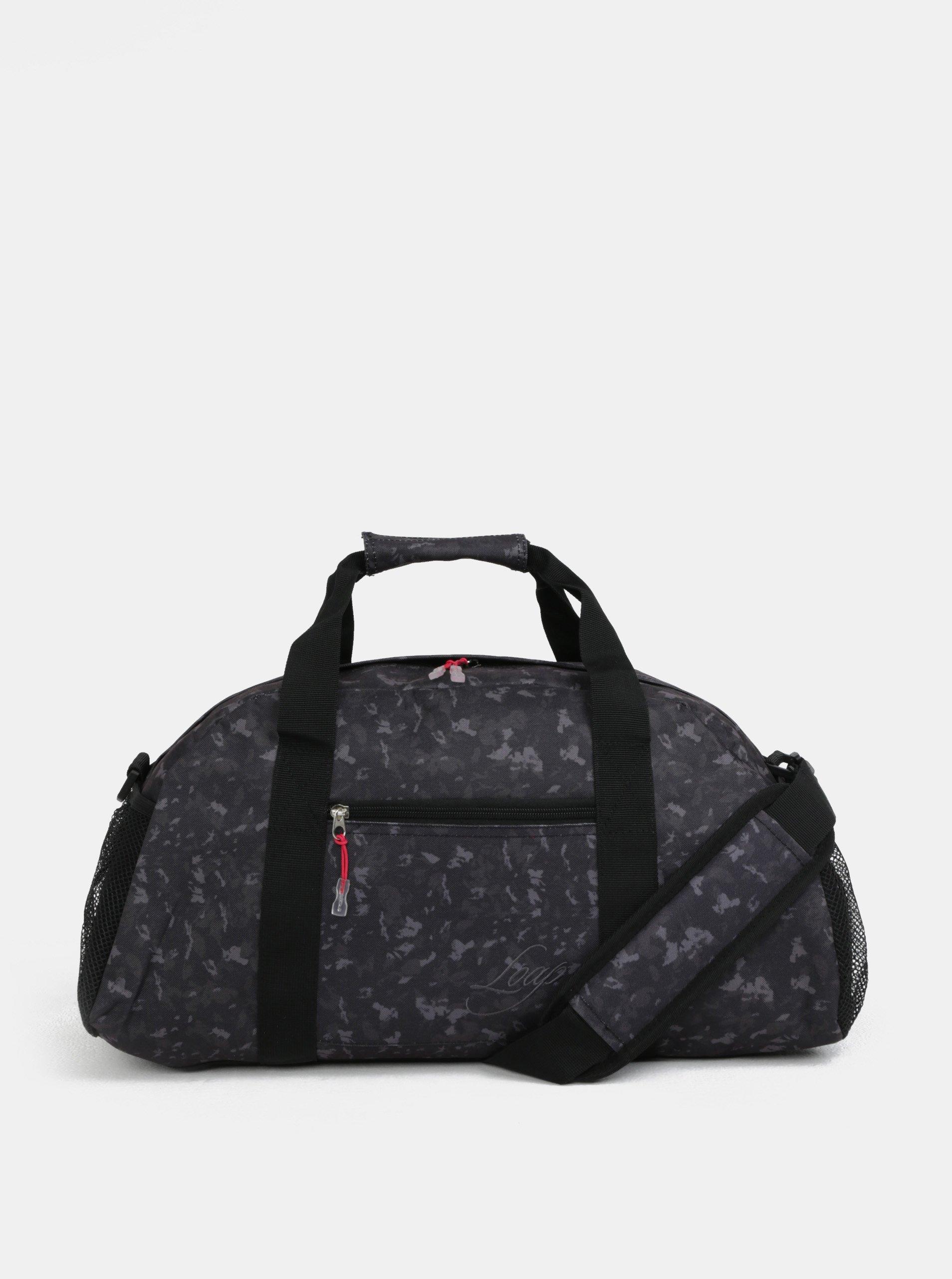 Zeleno-černá vzorovaná cestovní taška LOAP Aisian
