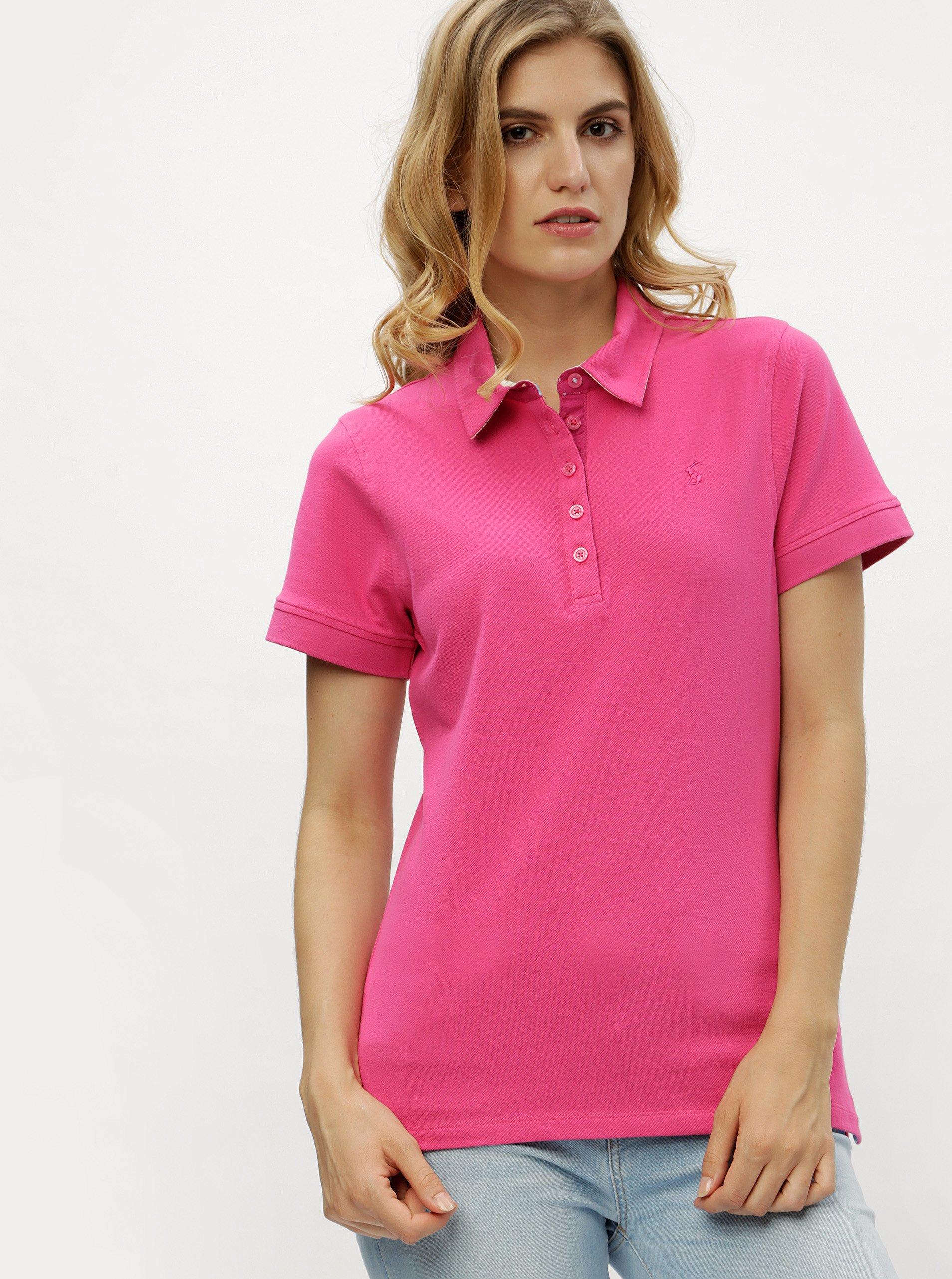 Růžové polo tričko Tom Joule Pippa