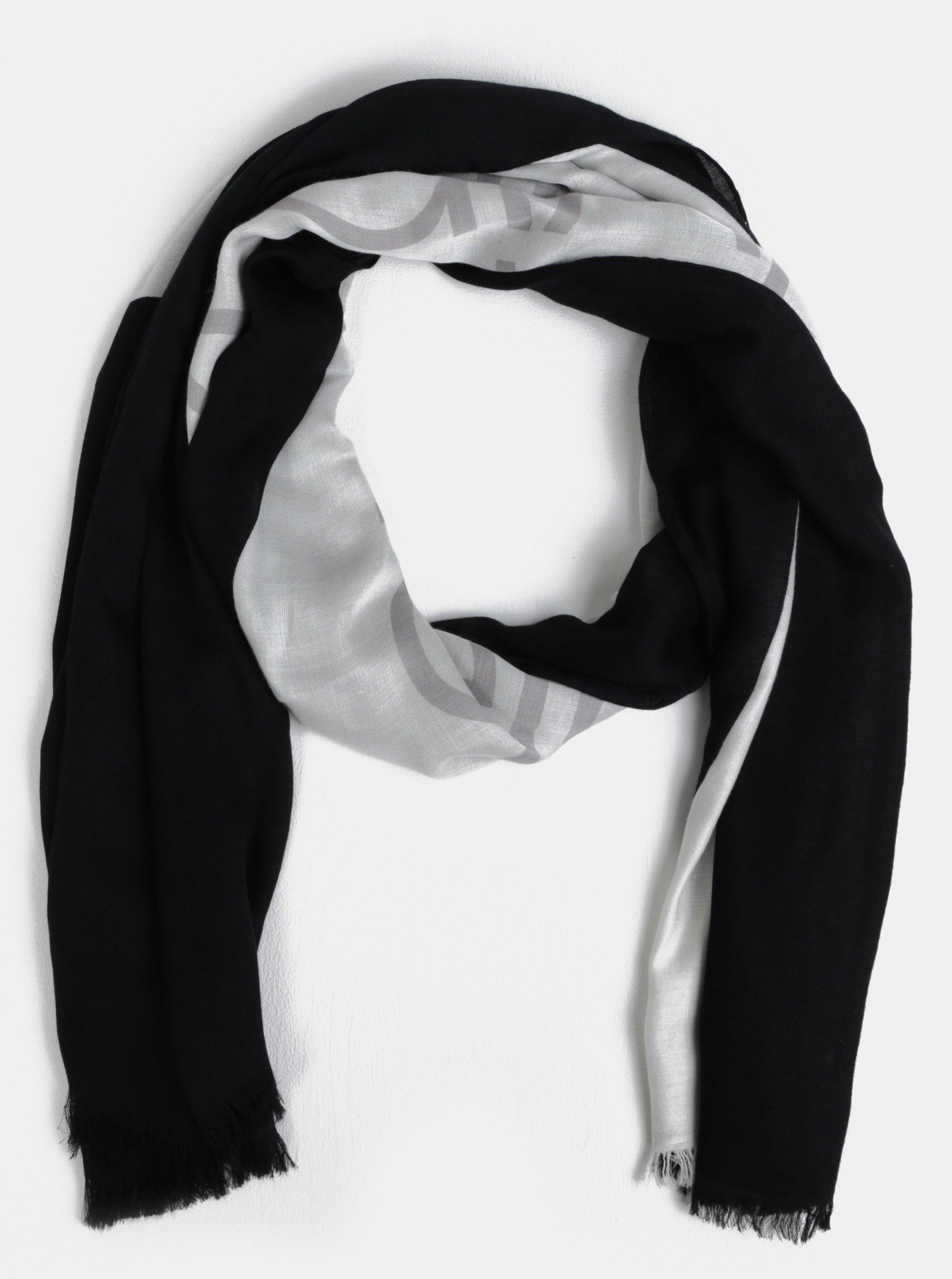 Bílo-černý dámský šátek Calvin Klein Jeans 3b846a131f