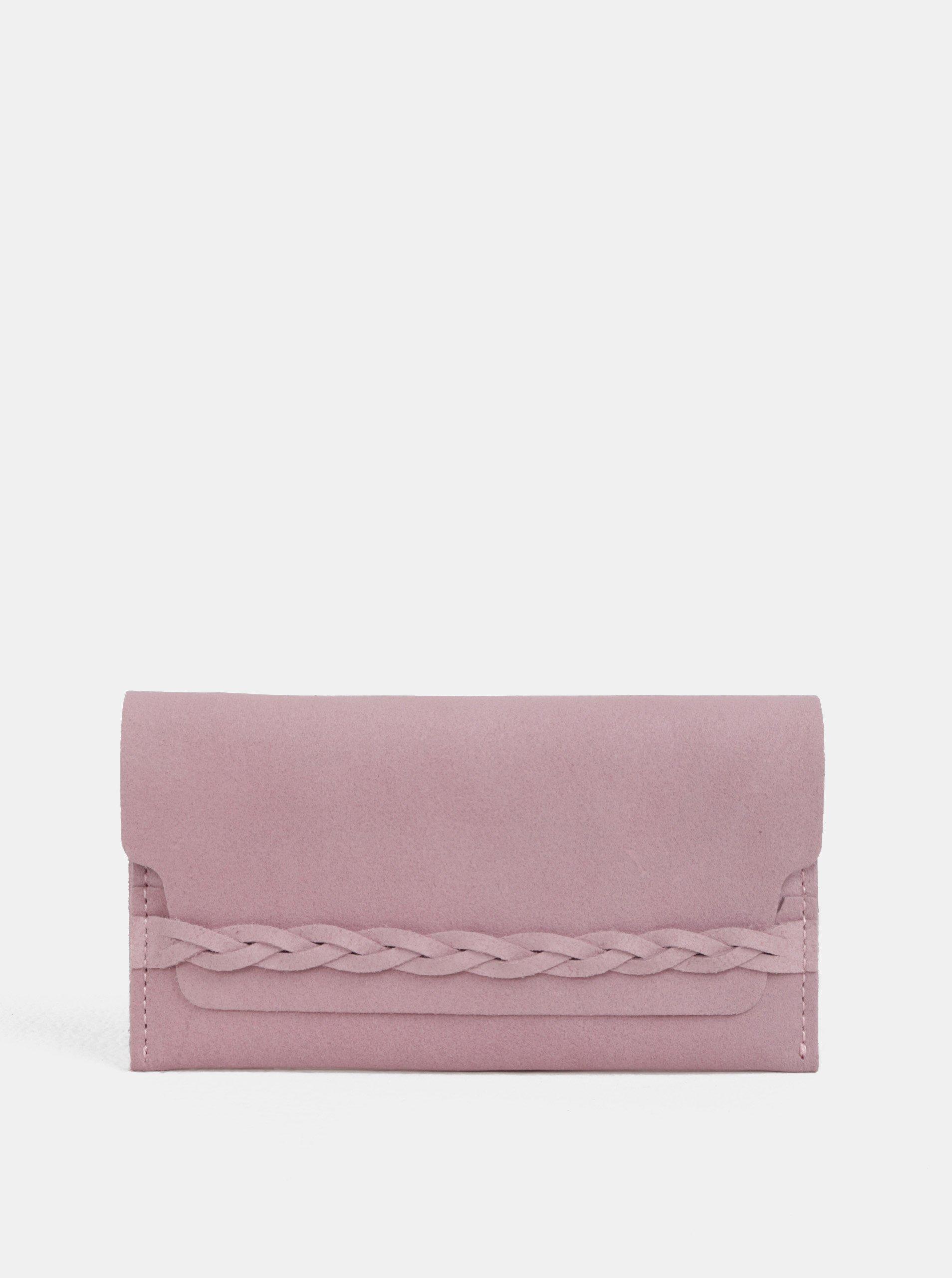 Růžová kožená peněženka WOOX Moneta Efferta Rosea