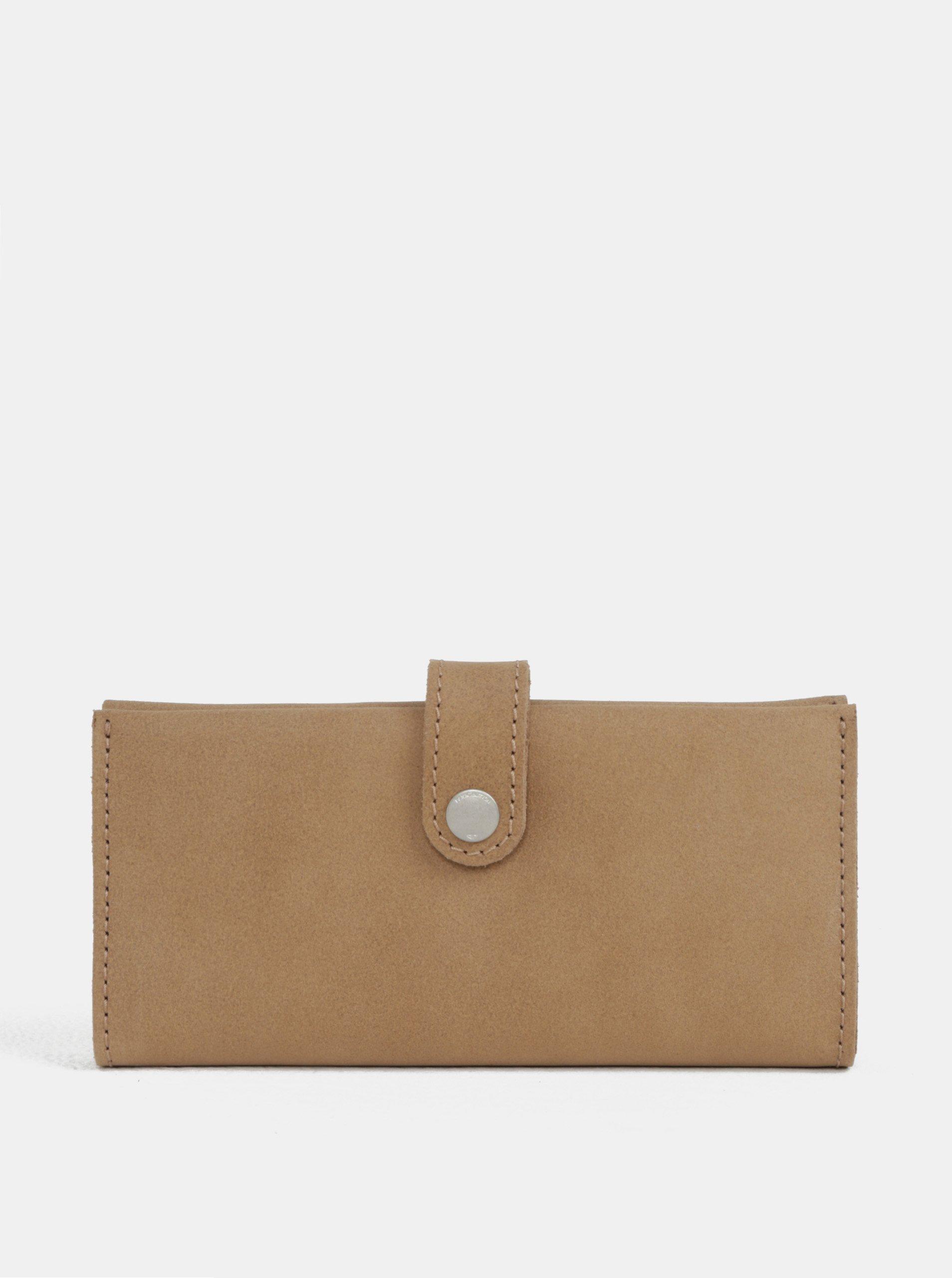 Svetlohnedá kožená peňaženka WOOX Moneta Magna Natura